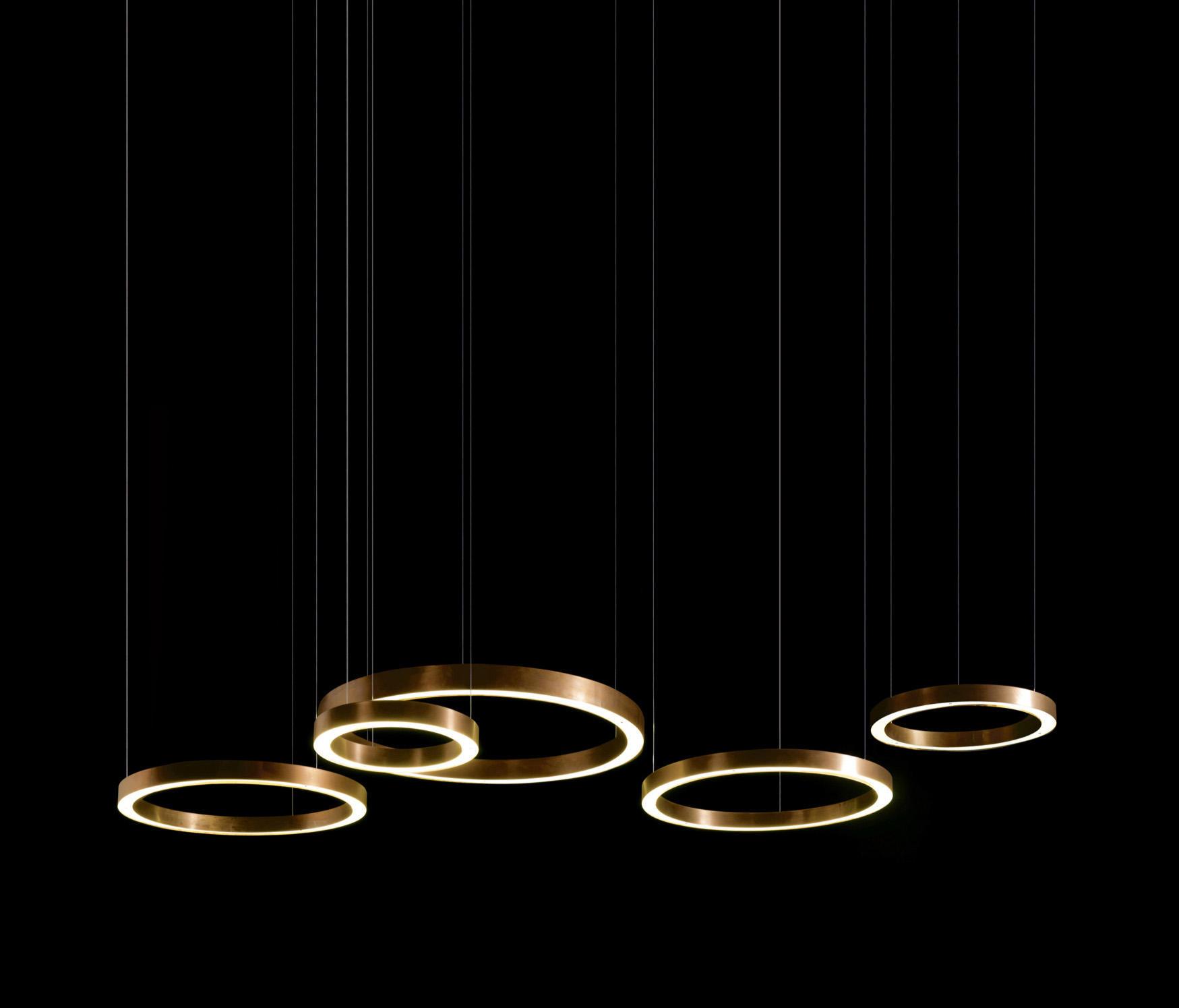 Kitchen Lights Over Island Light Ring Horizontal Suspended Lights From Henge