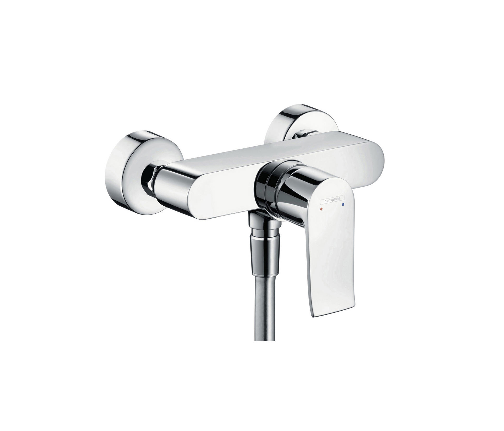 hansgrohe metris single lever shower mixer for exposed installation shower taps mixers from. Black Bedroom Furniture Sets. Home Design Ideas