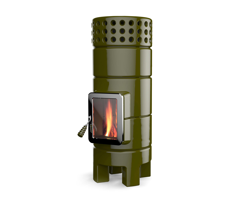 round stack 2 size wood burning stoves from la castellamonte