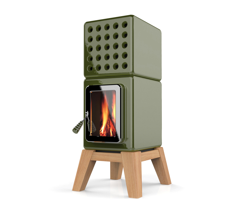 CUBI STACK WOOD - Wood burning stoves from La Castellamonte   Architonic
