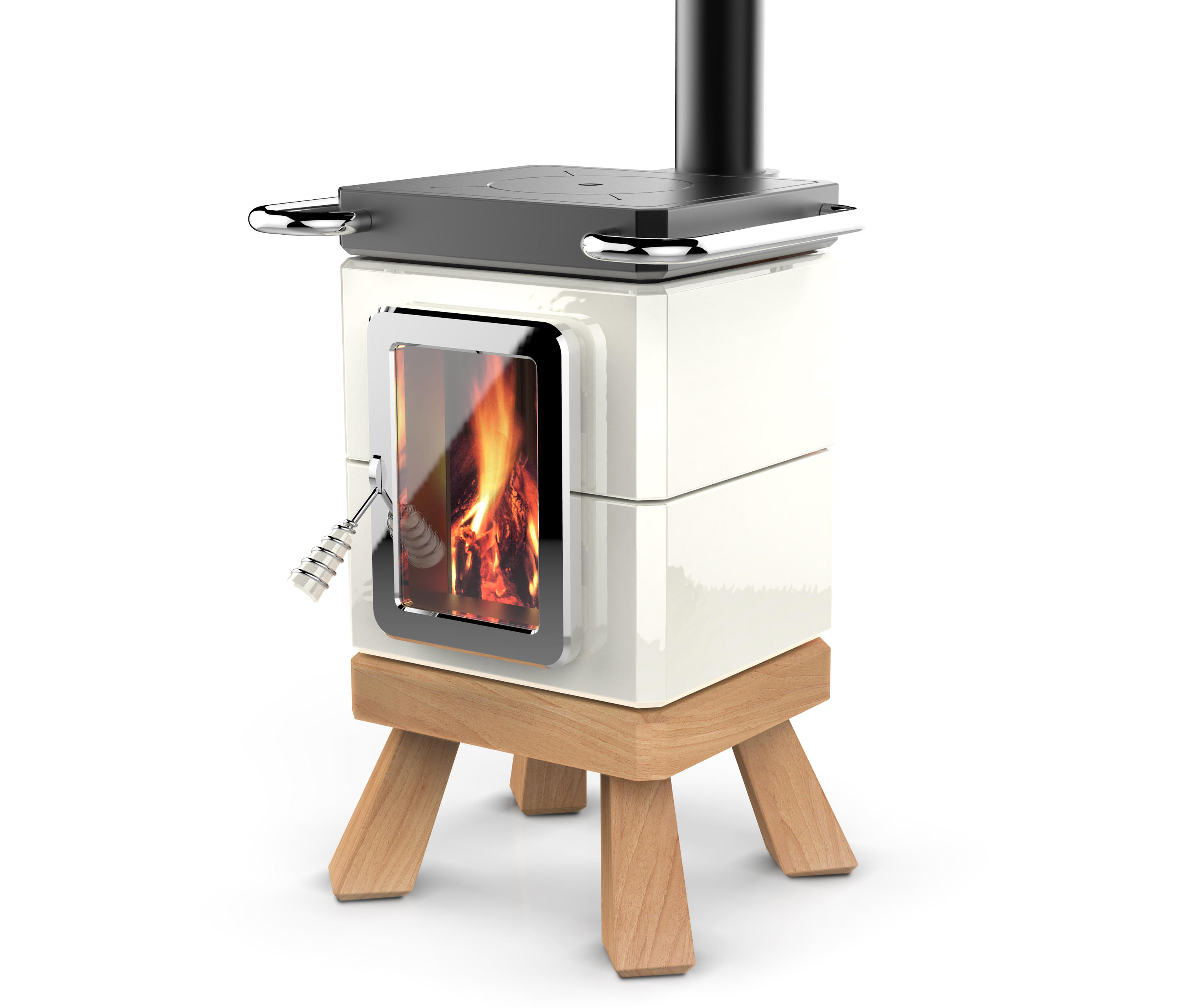 cookin stack wood burning stoves from la castellamonte. Black Bedroom Furniture Sets. Home Design Ideas