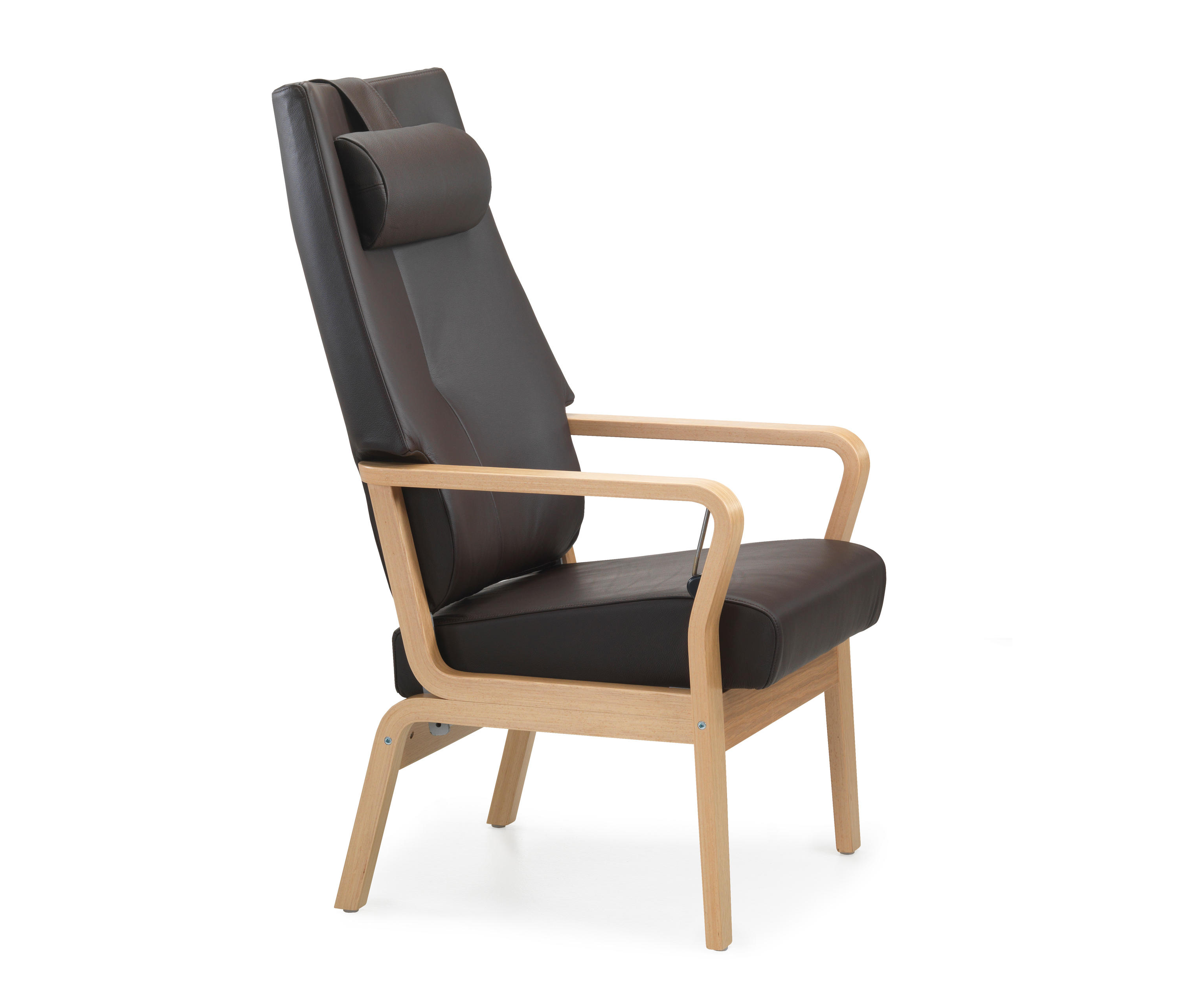 modern leather recliner honey chair cressina by gaga recliners lafer