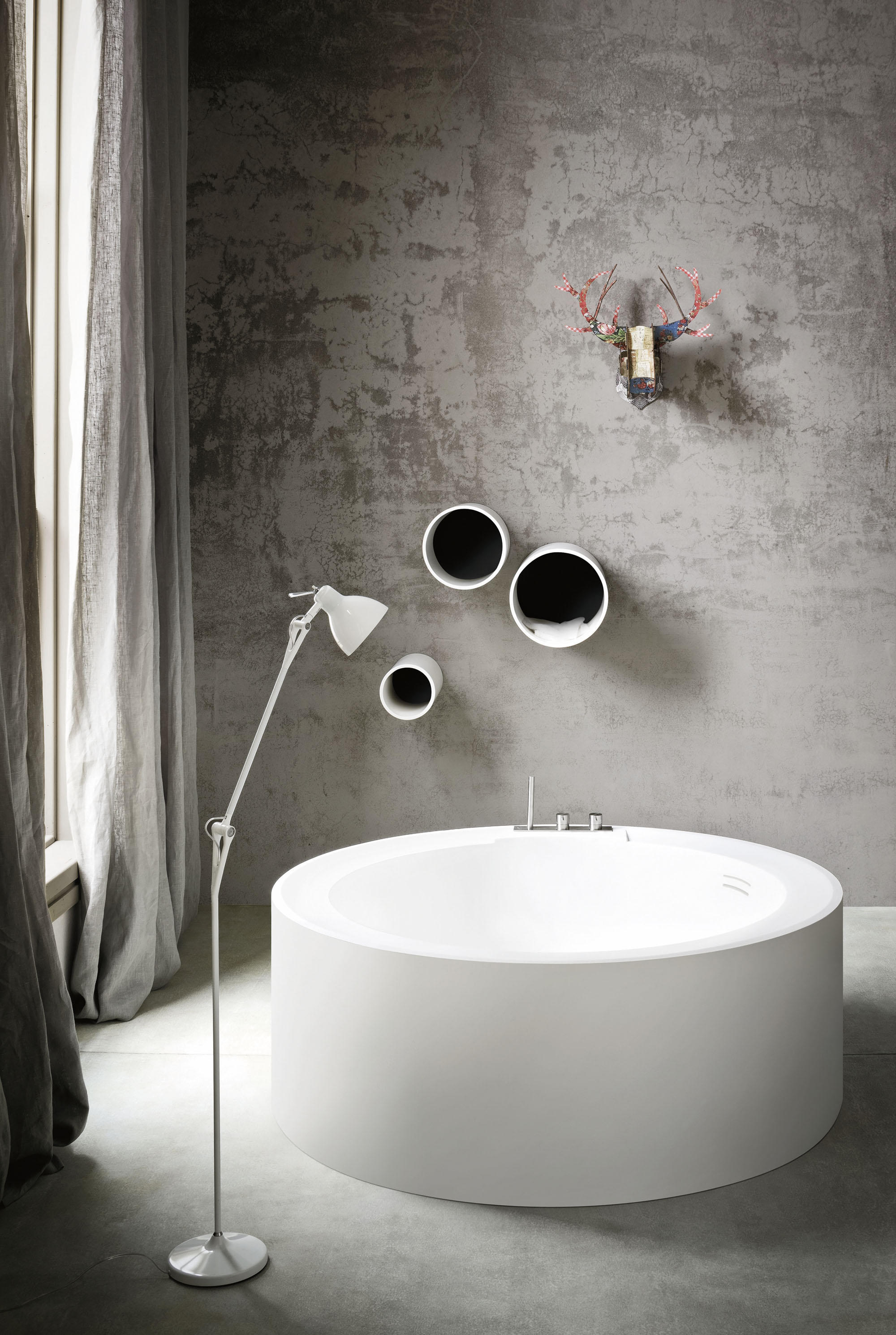 bathtubs round  high quality designer bathtubs round  architonic - hole bathtub  freestanding baths  rexa design