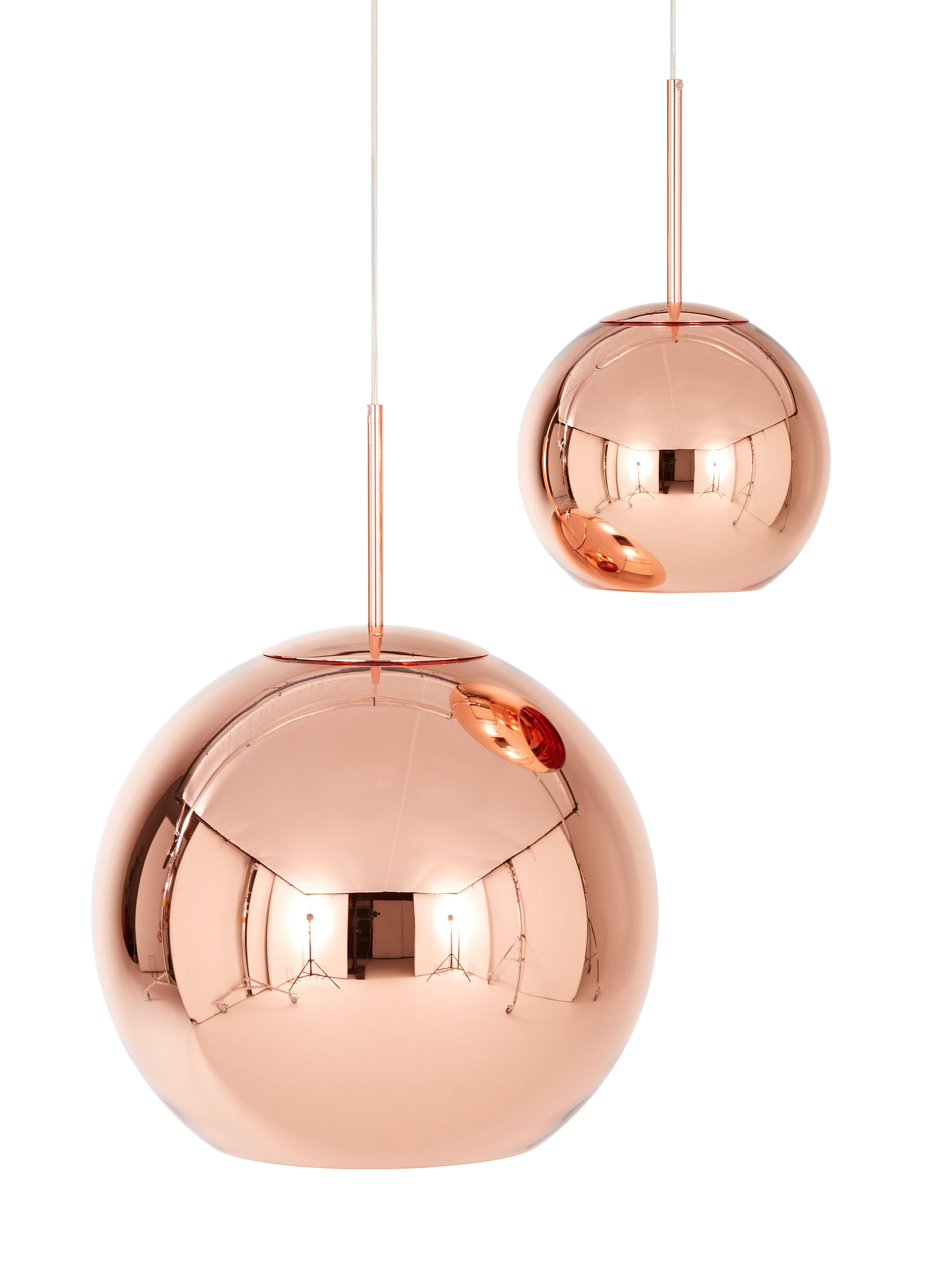 copper round pendant 45cm general lighting from tom dixon architonic. Black Bedroom Furniture Sets. Home Design Ideas