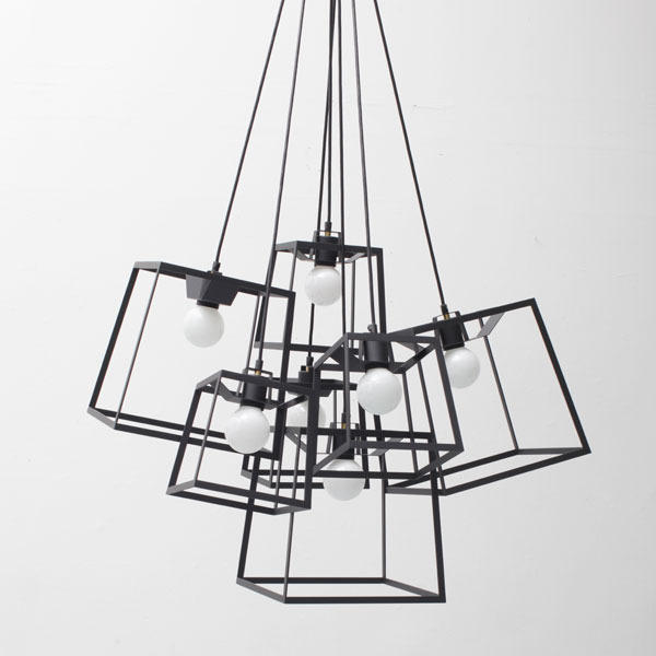 7 PIECE FRAME CLUSTER POWDER COATED - Suspended lights from Iacoli ...