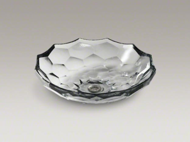 Briolette™ Vessels Glass Above Counter Bathroom Sink By Kohler | Wash  Basins ...