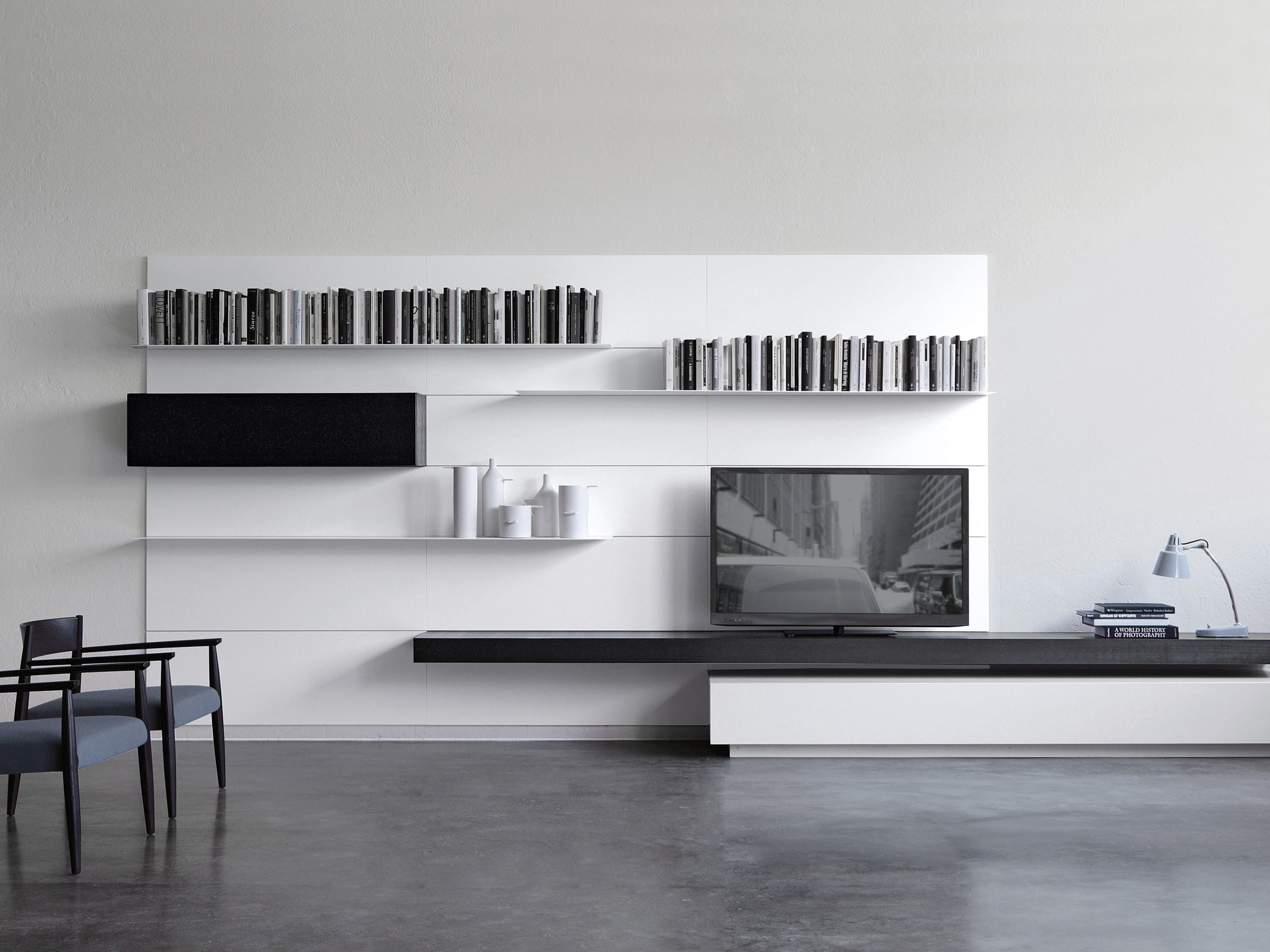 load it wall storage systems from porro architonic. Black Bedroom Furniture Sets. Home Design Ideas
