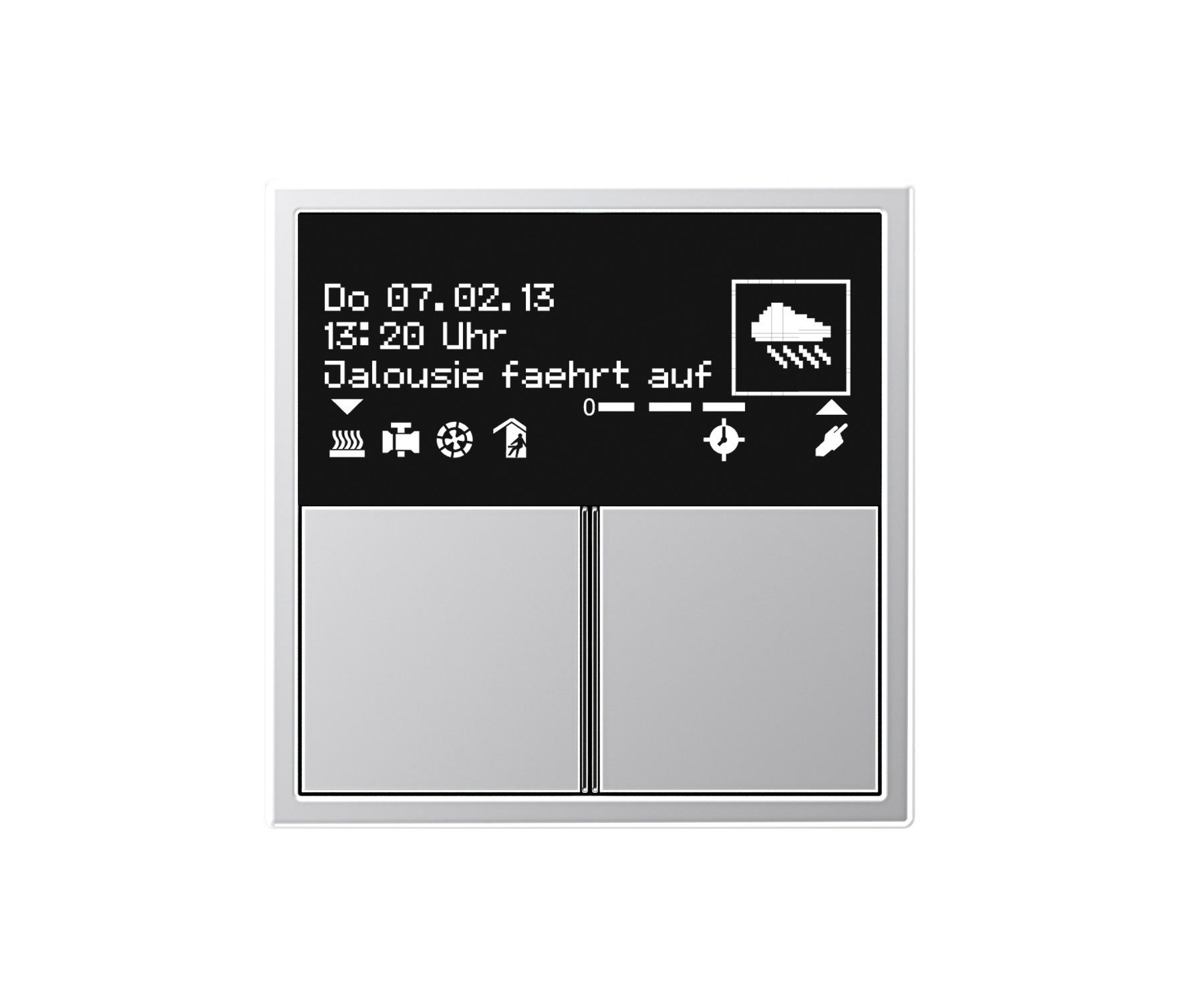 knx room controller oled ls 990 knx systems from jung architonic. Black Bedroom Furniture Sets. Home Design Ideas