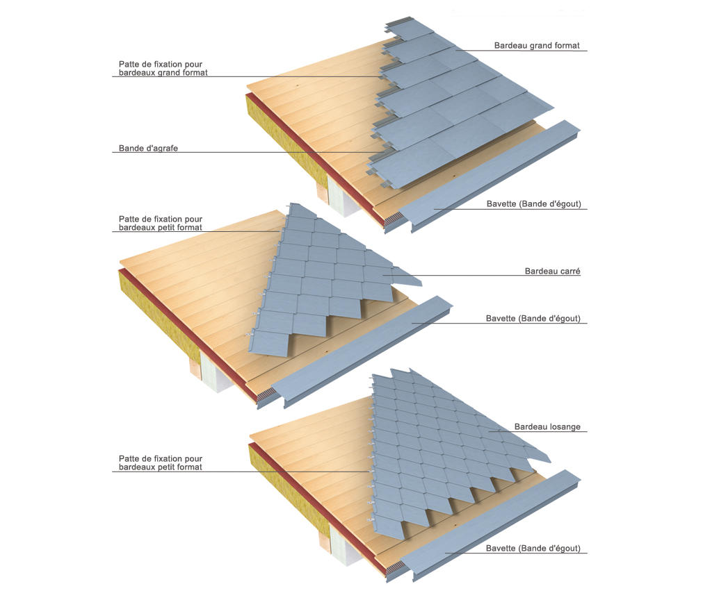 roof covering tiles by rheinzink roofing systems - Roof Covering