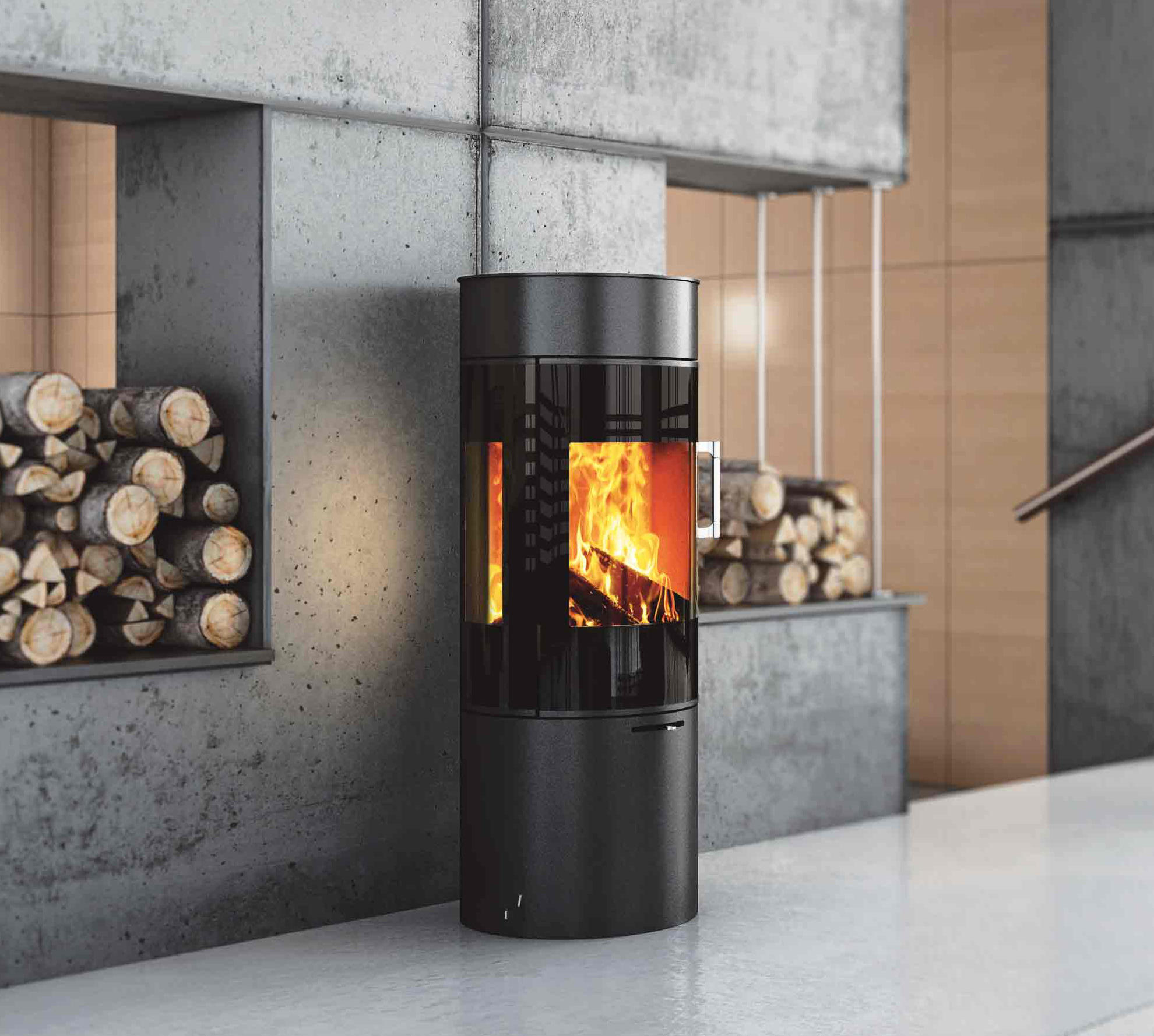 viva 120 wood burning stoves from attika feuer architonic. Black Bedroom Furniture Sets. Home Design Ideas