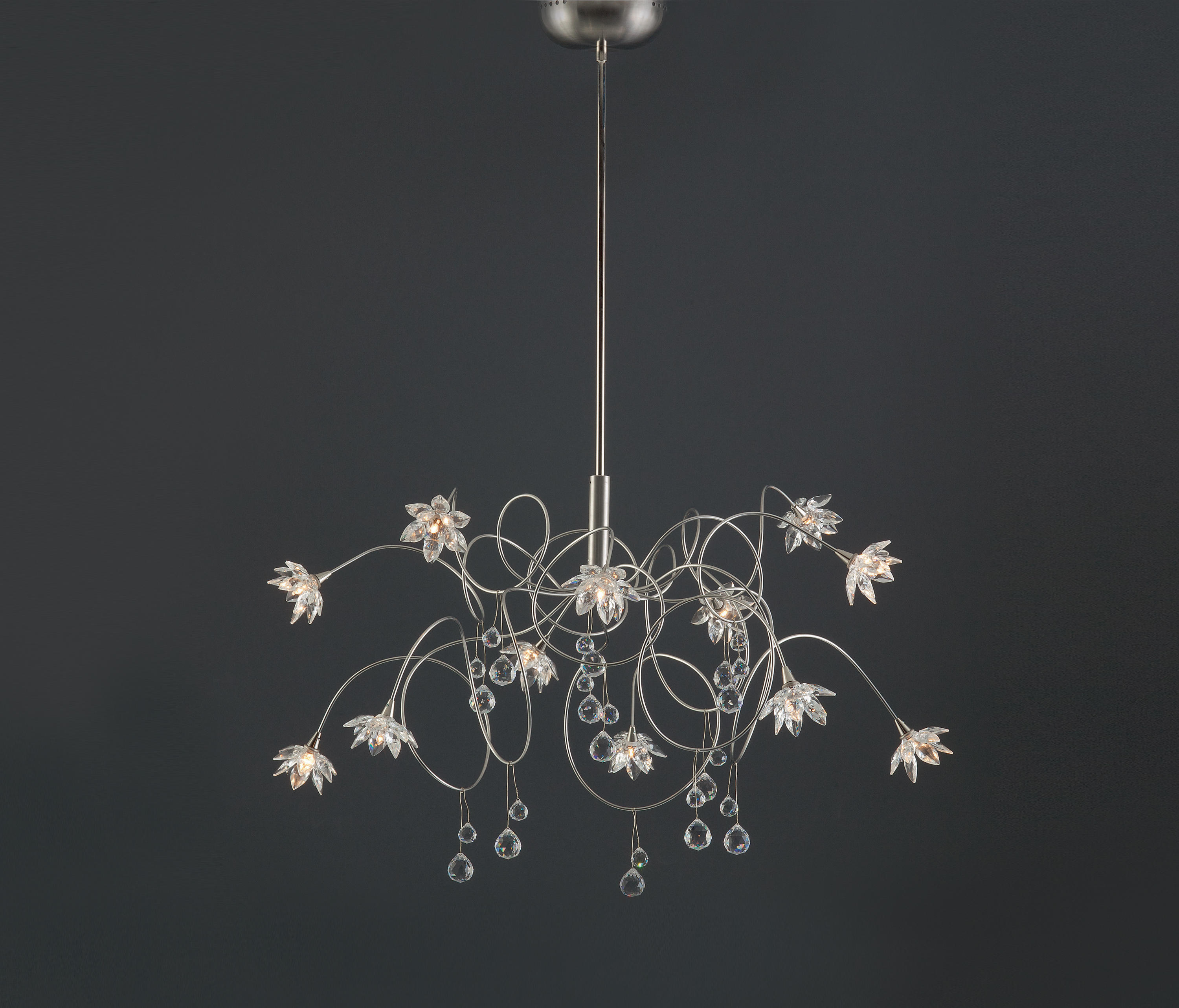 Crystal Diamond Pendant Light