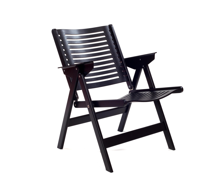 REX LOUNGE CHAIR BLACK Garden armchairs from Rex Kralj