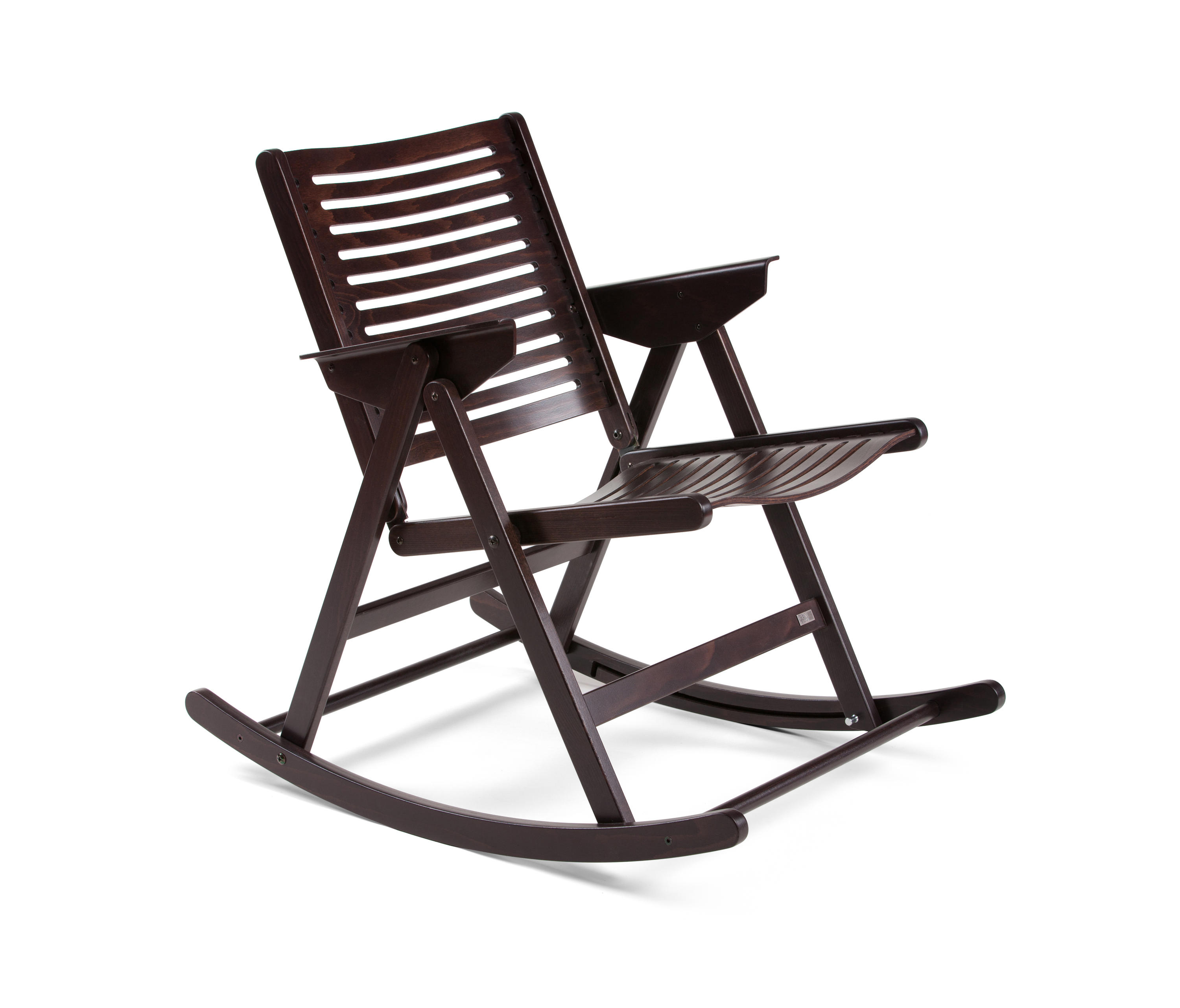 REX ROCKING CHAIR DARK BROWN Garden chairs from Rex Kralj