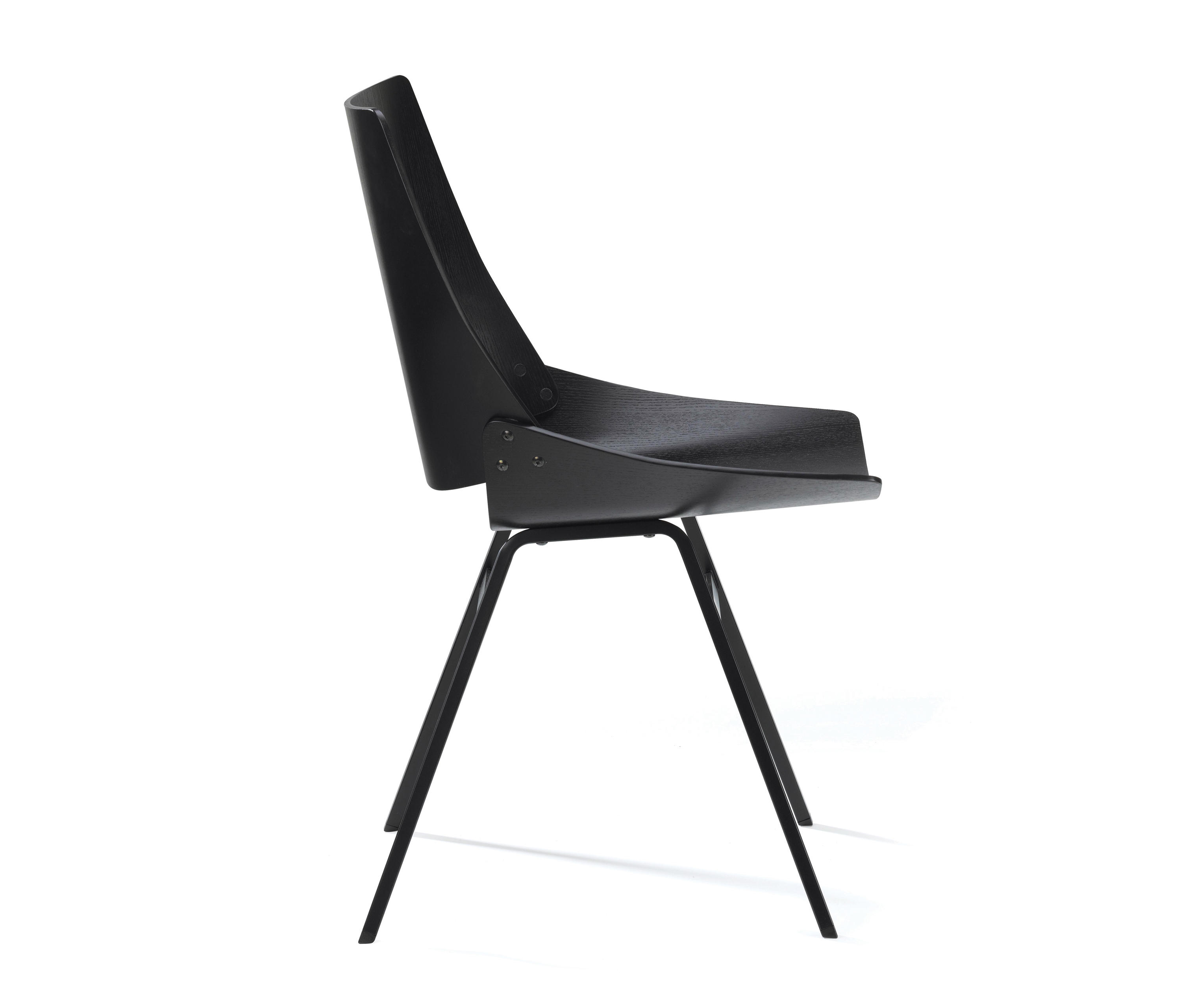 black side chair. Shell Chair Black By Rex Kralj   Visitors Chairs / Side