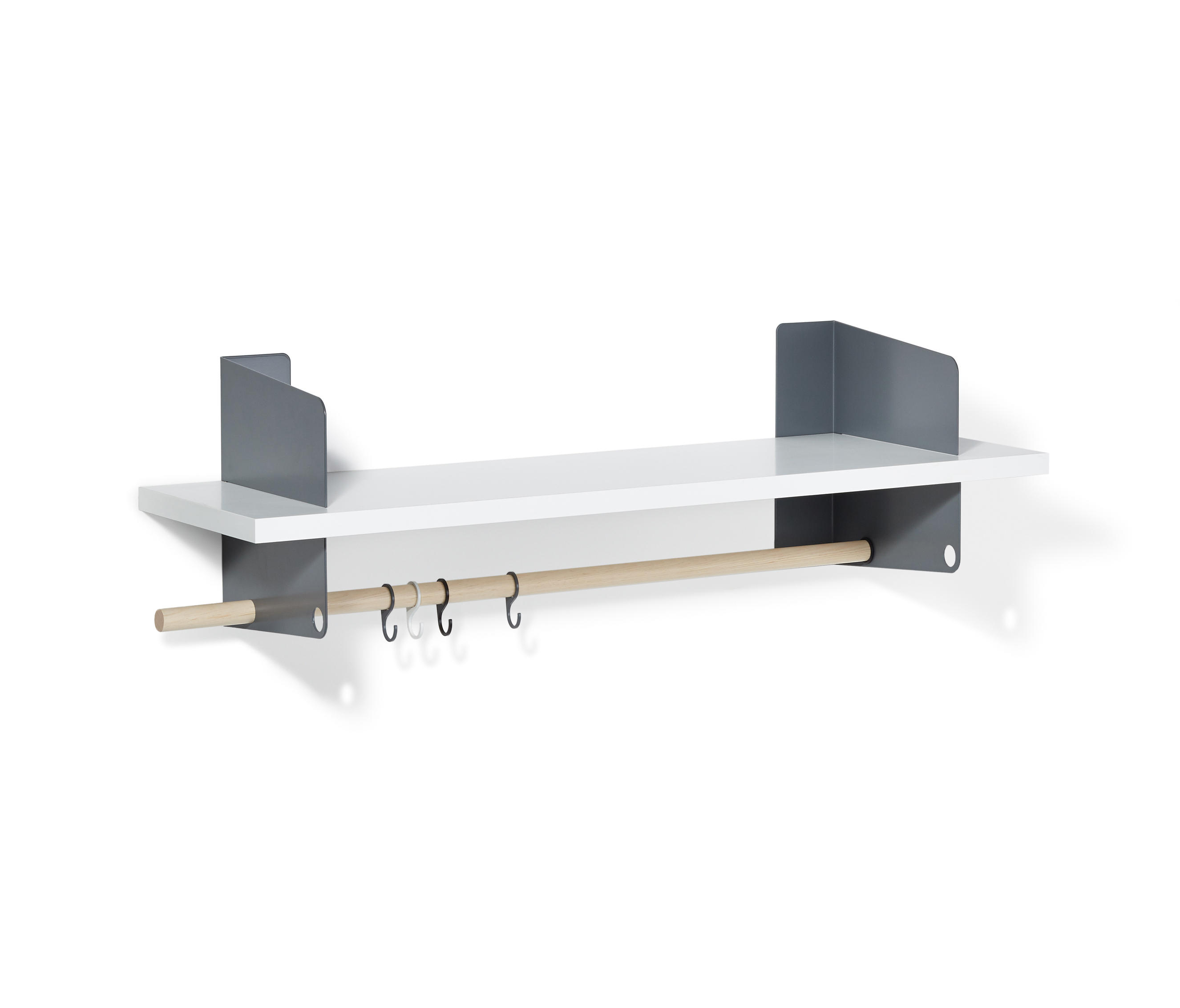 Atelier coat rack shelving 1000 mm built in for Garderobe grau