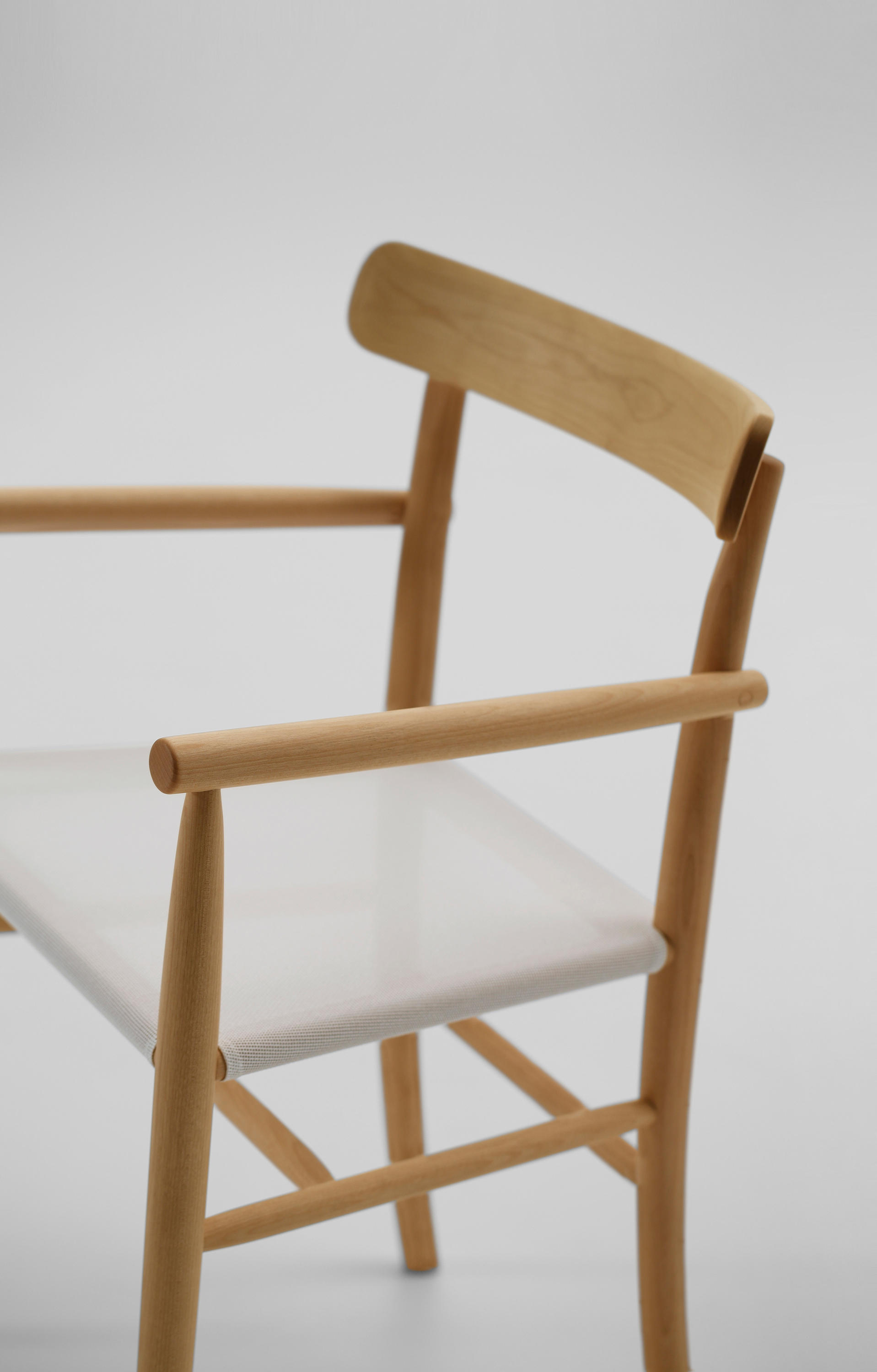 Merveilleux ... Lightwood Arm Chair (Mesh Seat) By MARUNI | Chairs