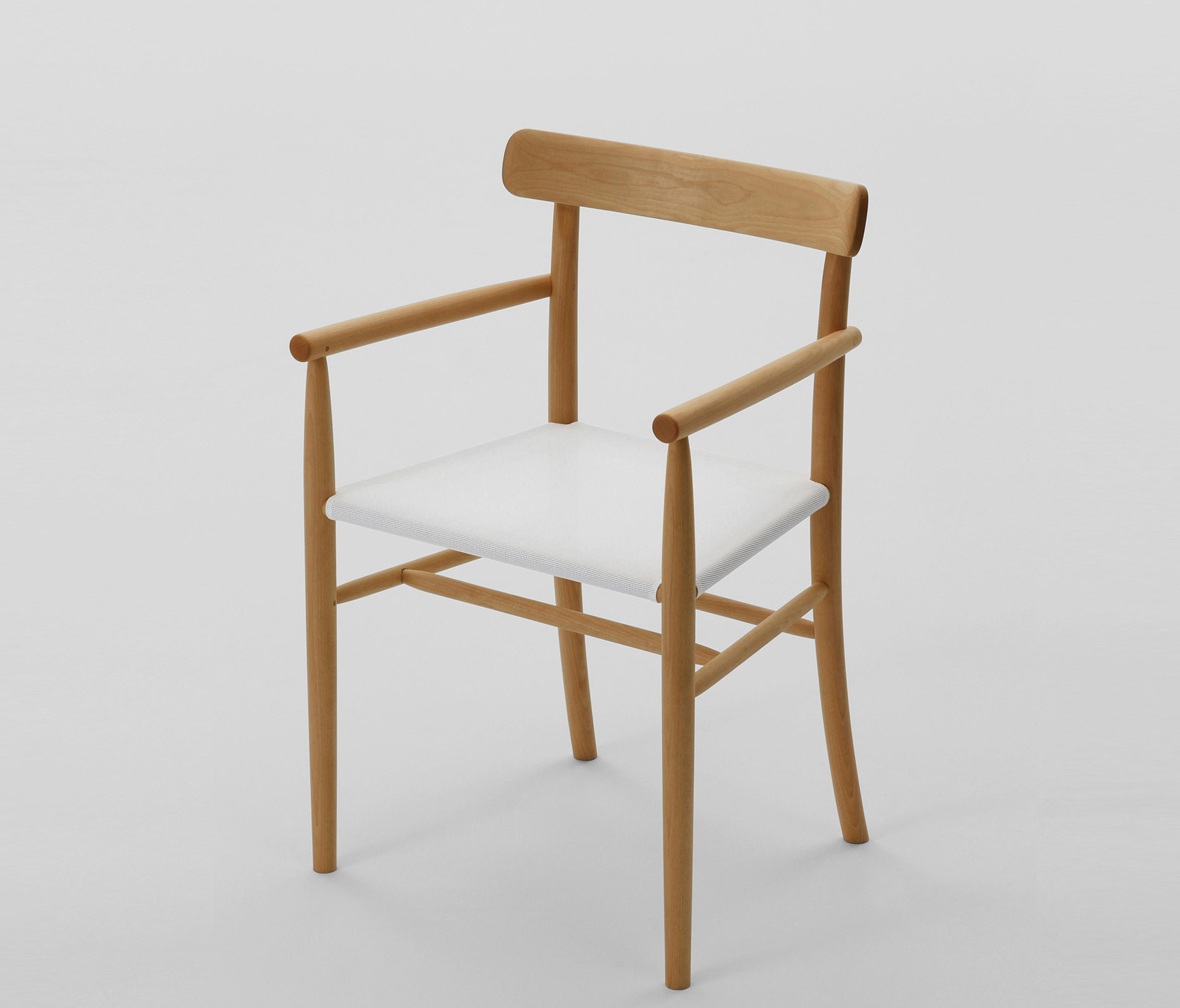 Charmant ... Lightwood Arm Chair (Mesh Seat) By MARUNI | Chairs ...