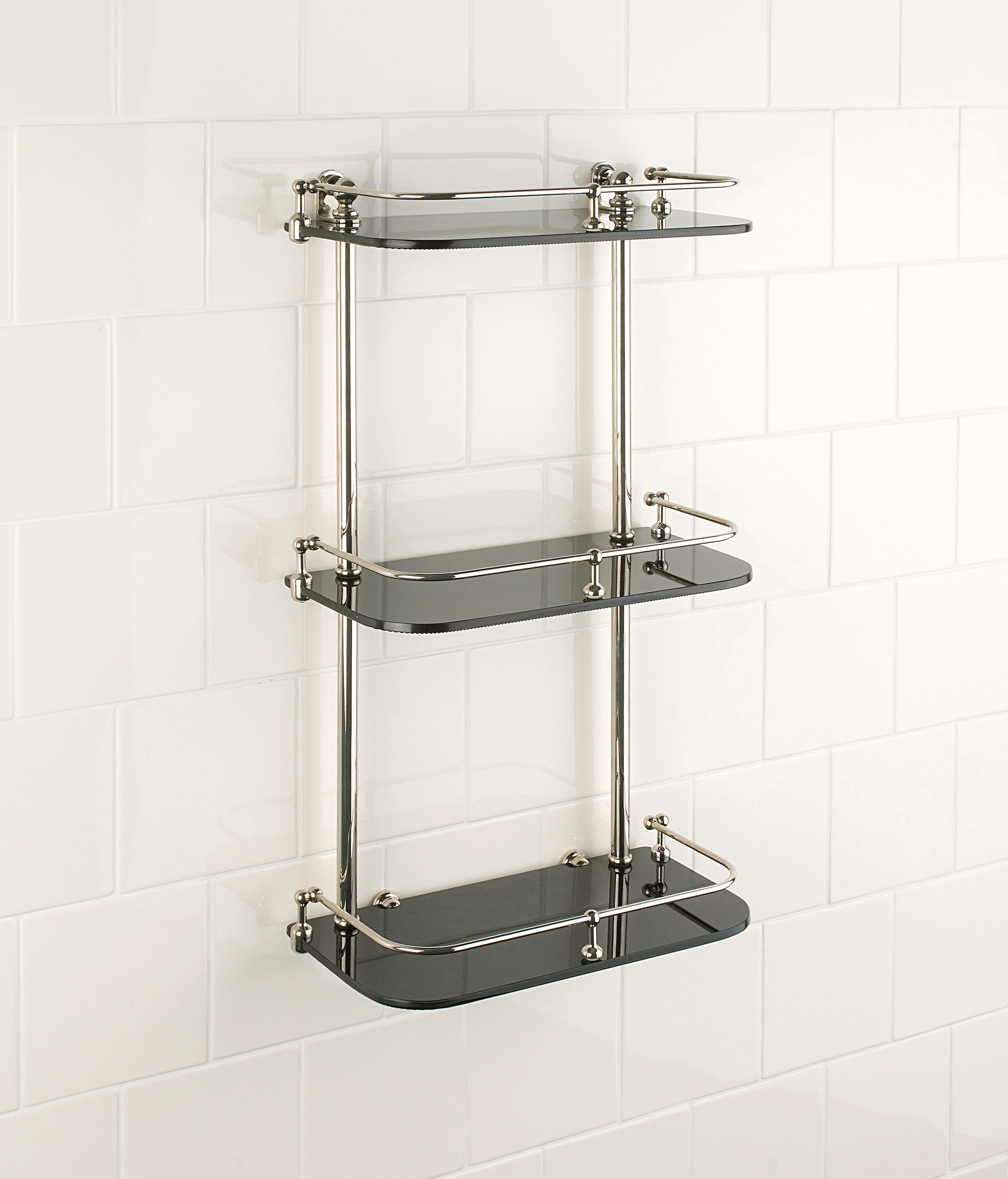 WALL SHELF | CLEAR GLASS - Bath shelving from Aquadomo | Architonic