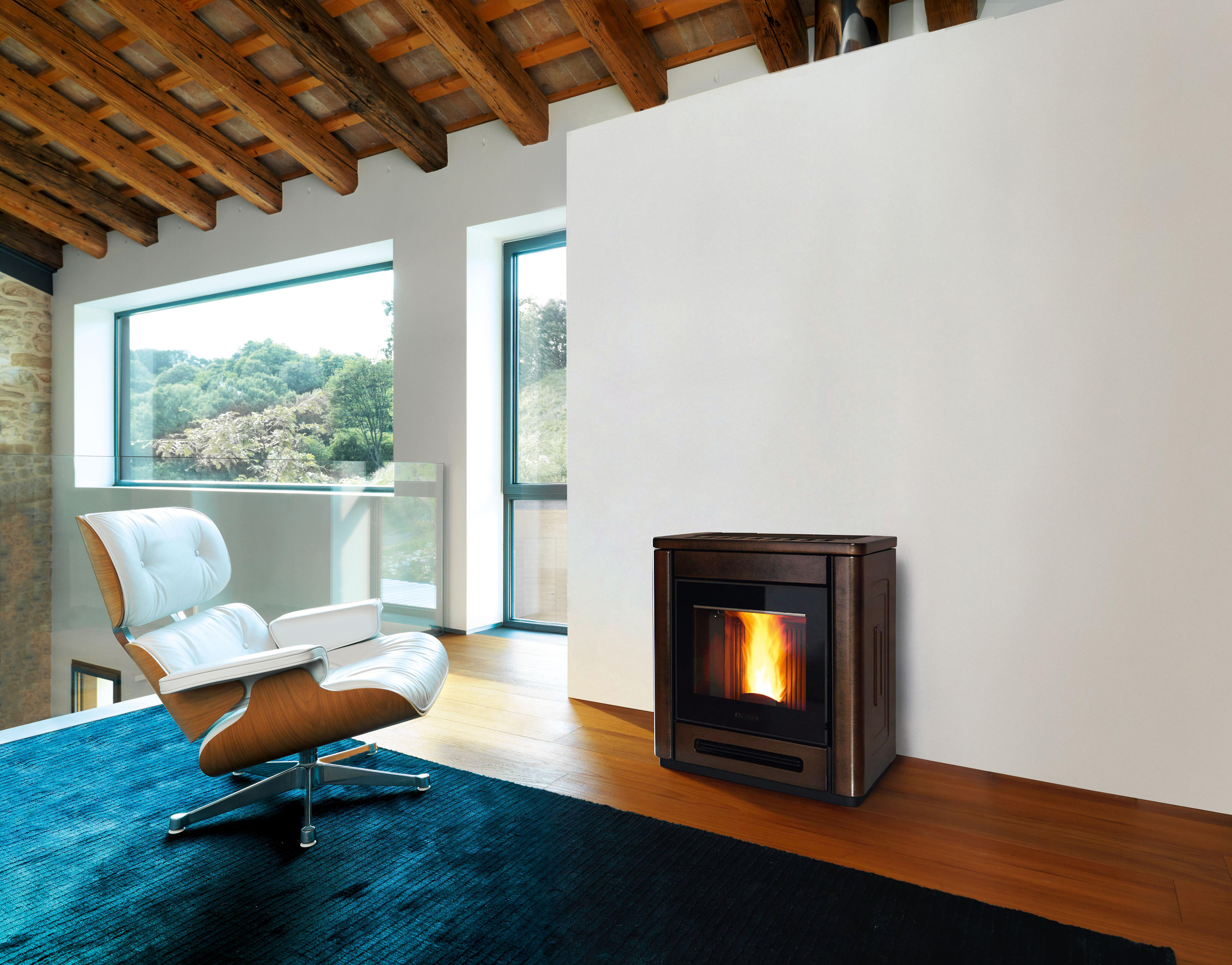 Poele A Pellet Rika Filo p944 - stoves from piazzetta | architonic