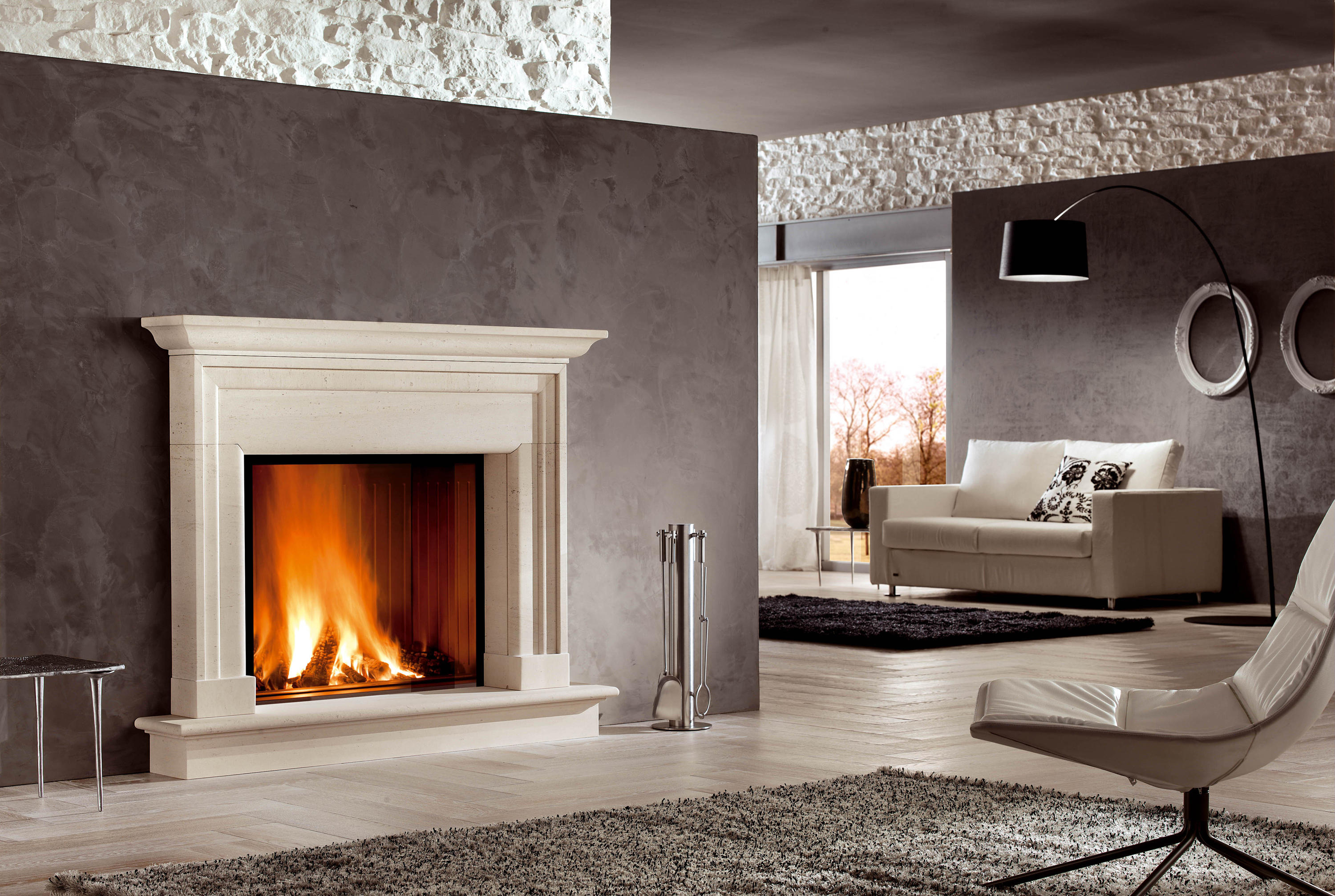 Alghero wood fireplaces from piazzetta architonic for Piazzetta camini