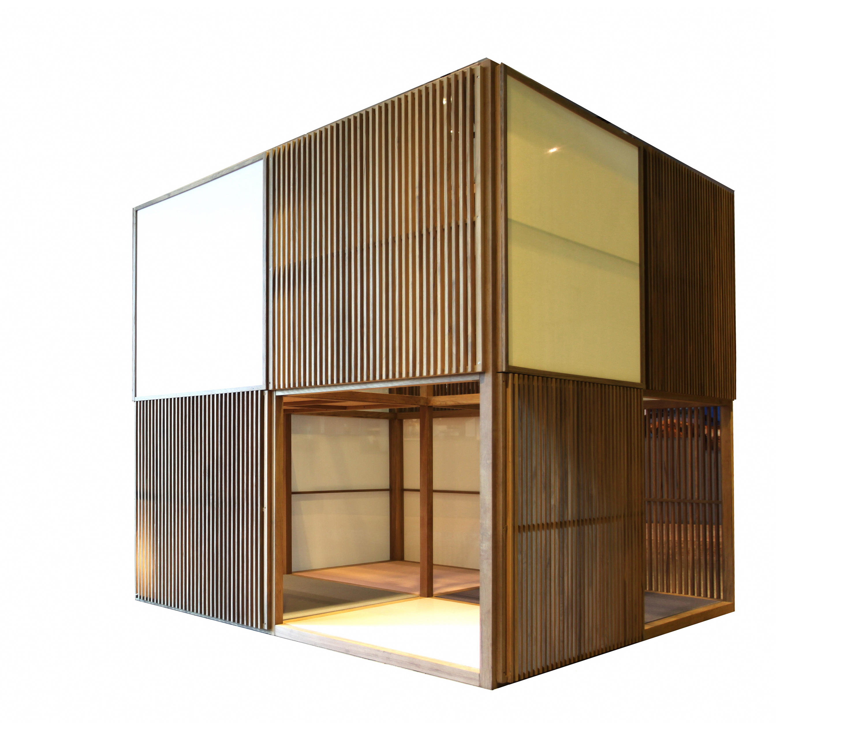Japanese tea house architectural systems from deesawat for Modern japanese tea house design