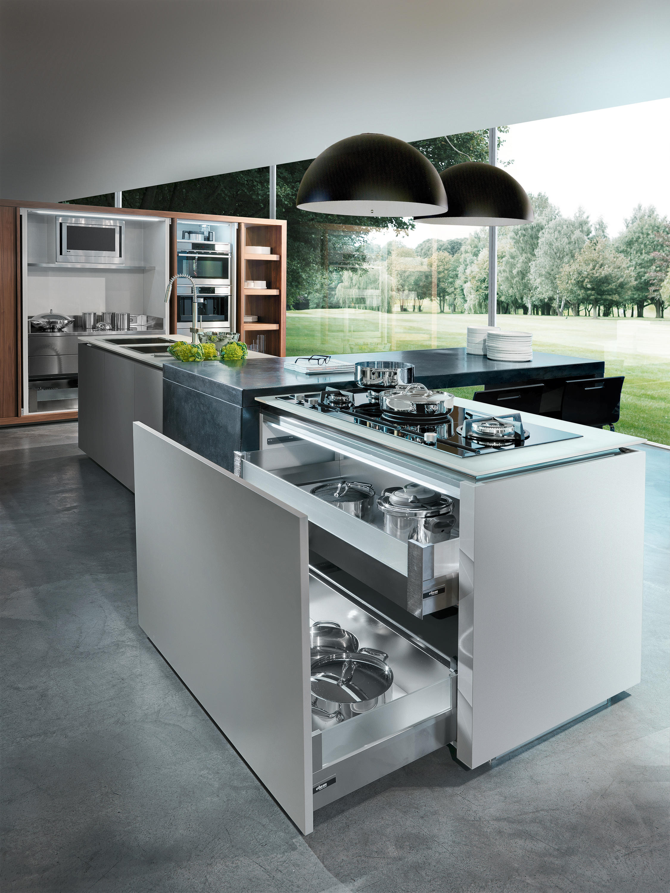 Plus island kitchens from tisettanta architonic for Cucine tisettanta