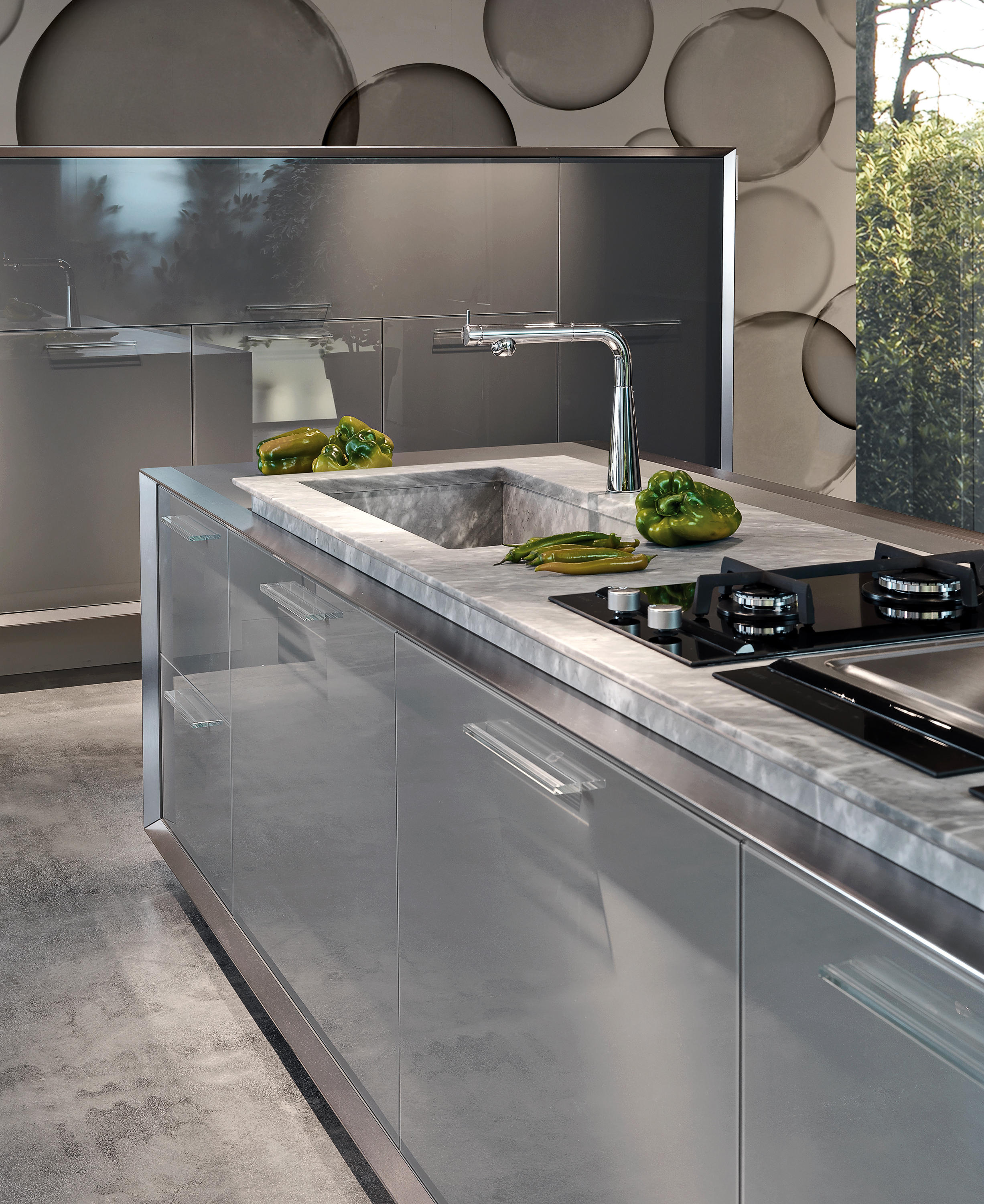 Milano island kitchens from tisettanta architonic for Cucine tisettanta