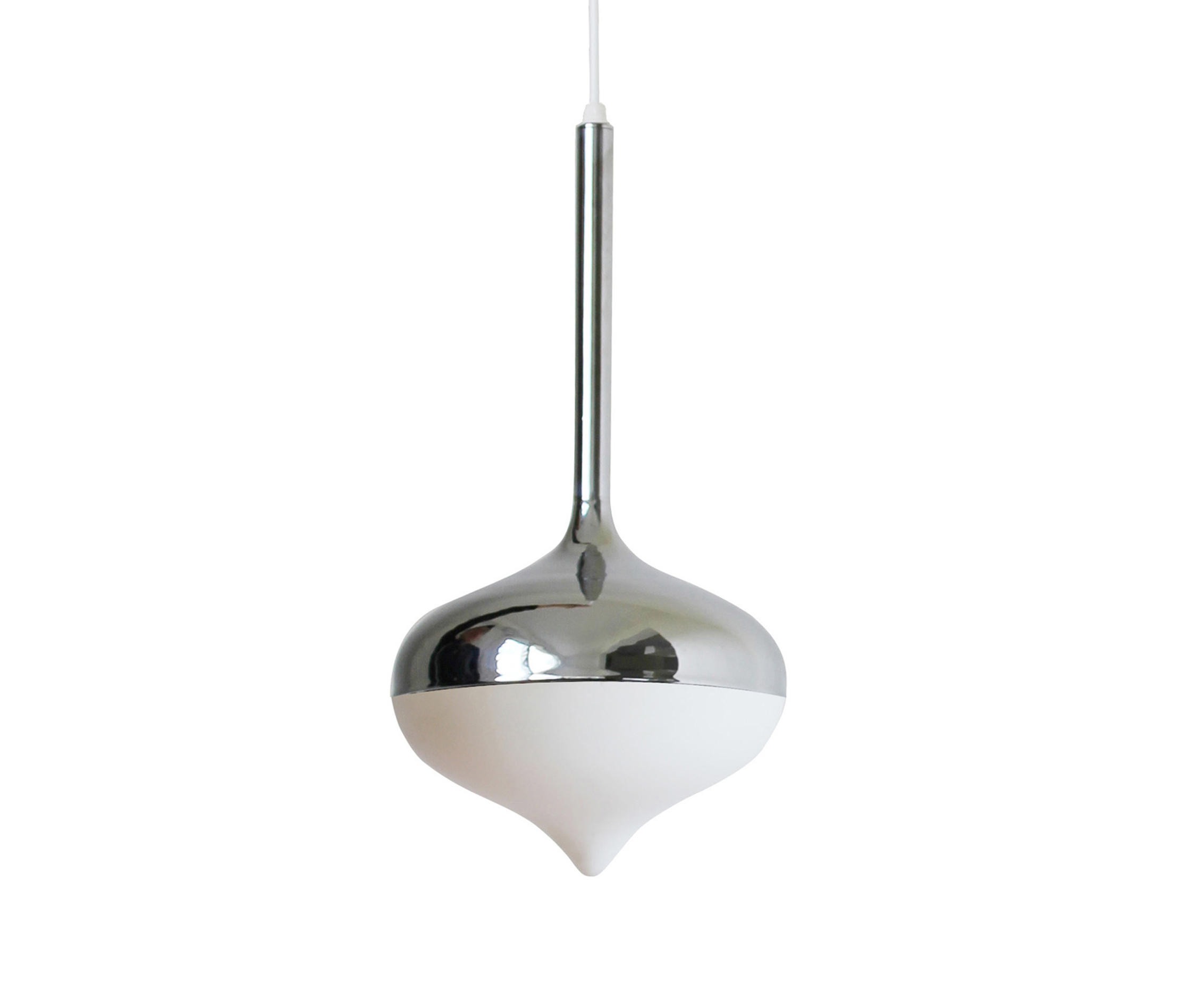Spun Small Pendant Lamp Silver By Evie Group