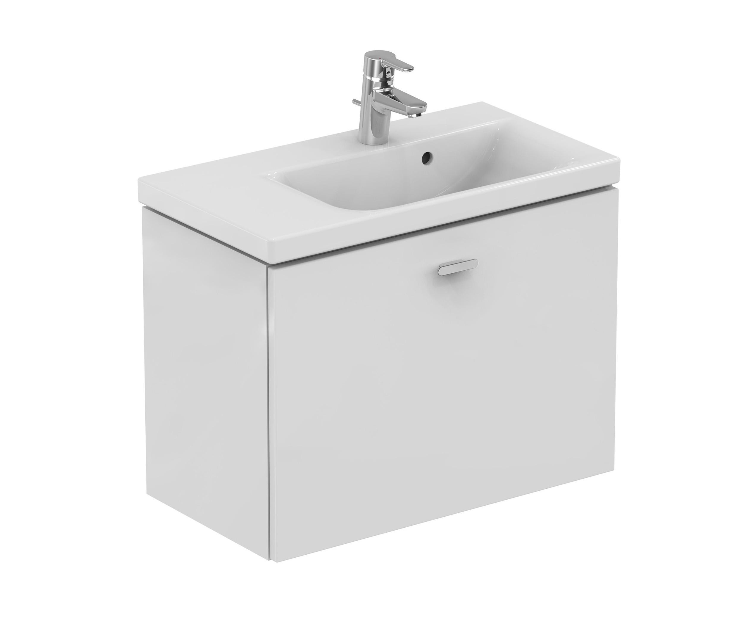 connect space waschtisch unterschrank 700 mm ablage links vanity units from ideal standard. Black Bedroom Furniture Sets. Home Design Ideas