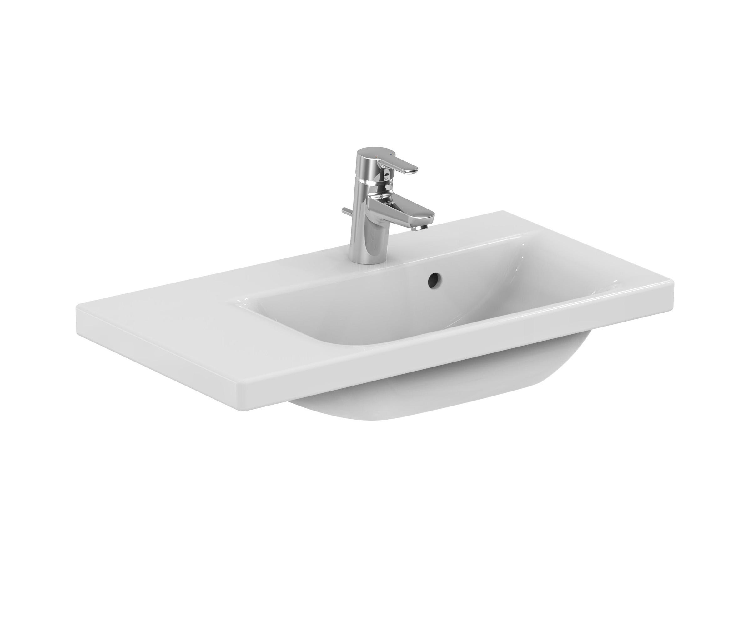 CONNECT SPACE WASCHTISCH 700MM (ABLAGE LINKS) - Wash basins from ...