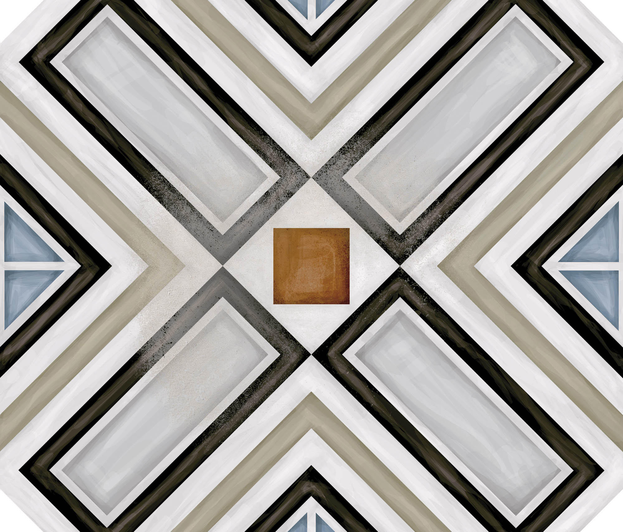 Octogono ritter multicolor floor tiles from vives cer mica architonic - Azulejos vives ...