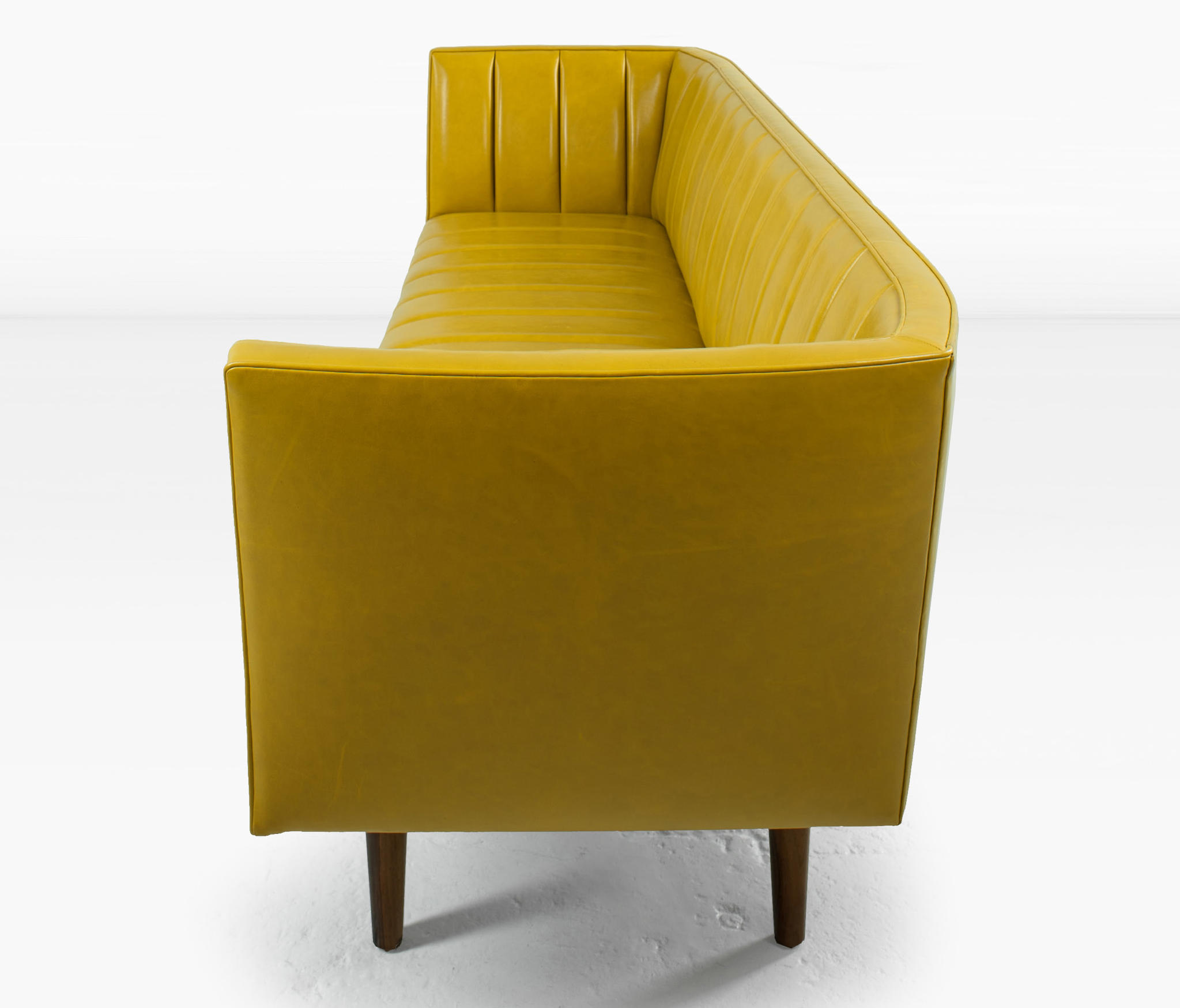 Famechon Sofa With Channeled Back And Seat Walnut Legs: Sofas From Khouri Guzman Bunce Lininger
