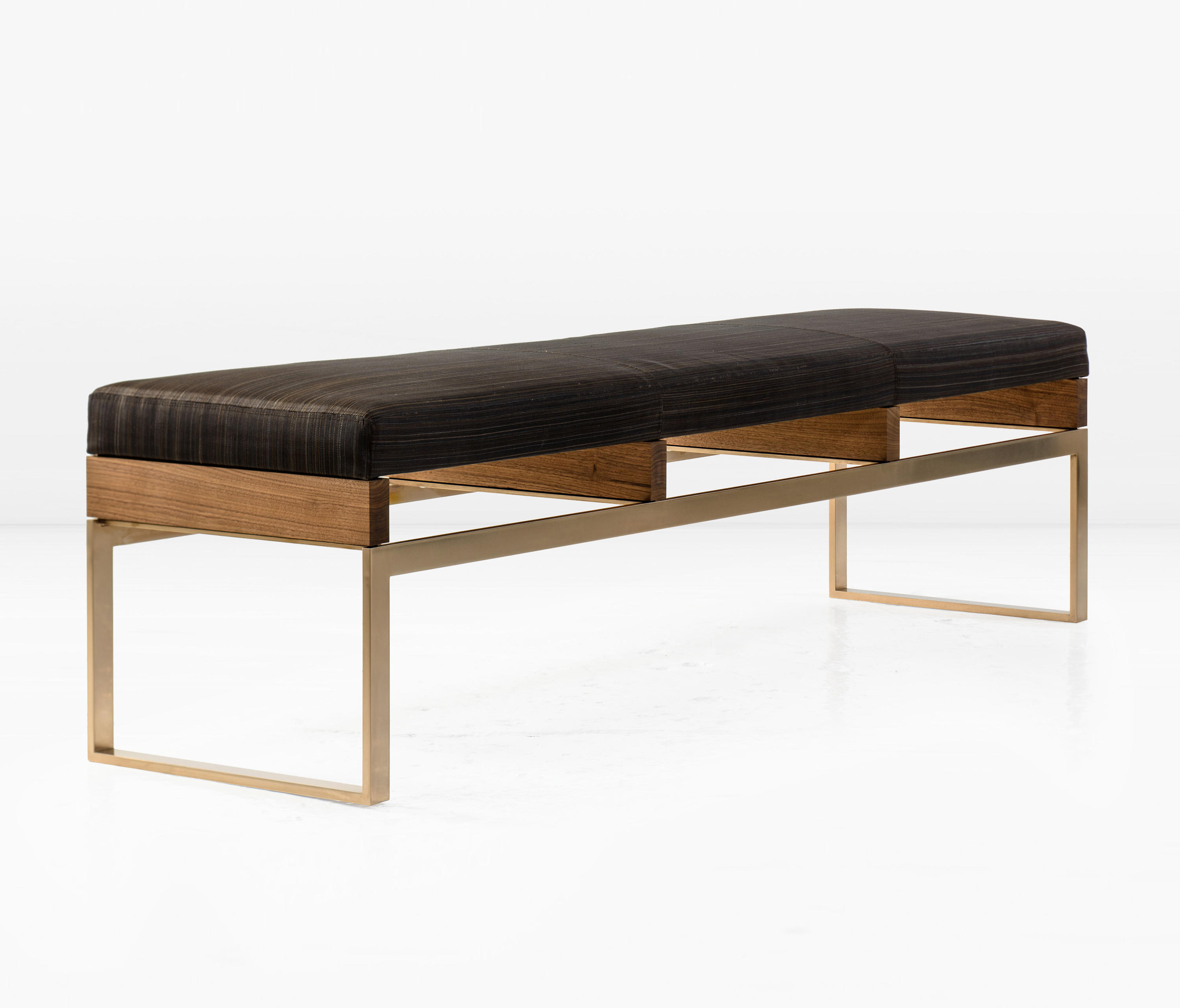 Maxim bench upholstered benches from khouri guzman bunce Upholstered benches