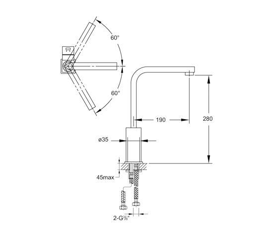 120 1400 sp ltisch einhebelmischbatterie k chenarmaturen von steinberg architonic. Black Bedroom Furniture Sets. Home Design Ideas