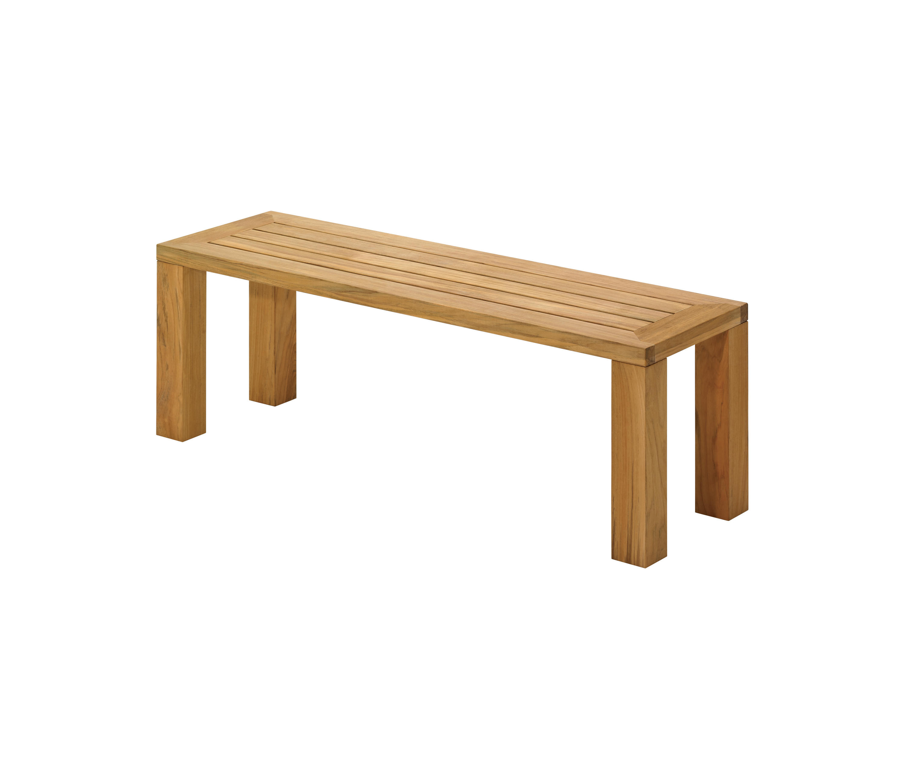 Square 131cm backless bench by gloster furniture gmbh benches