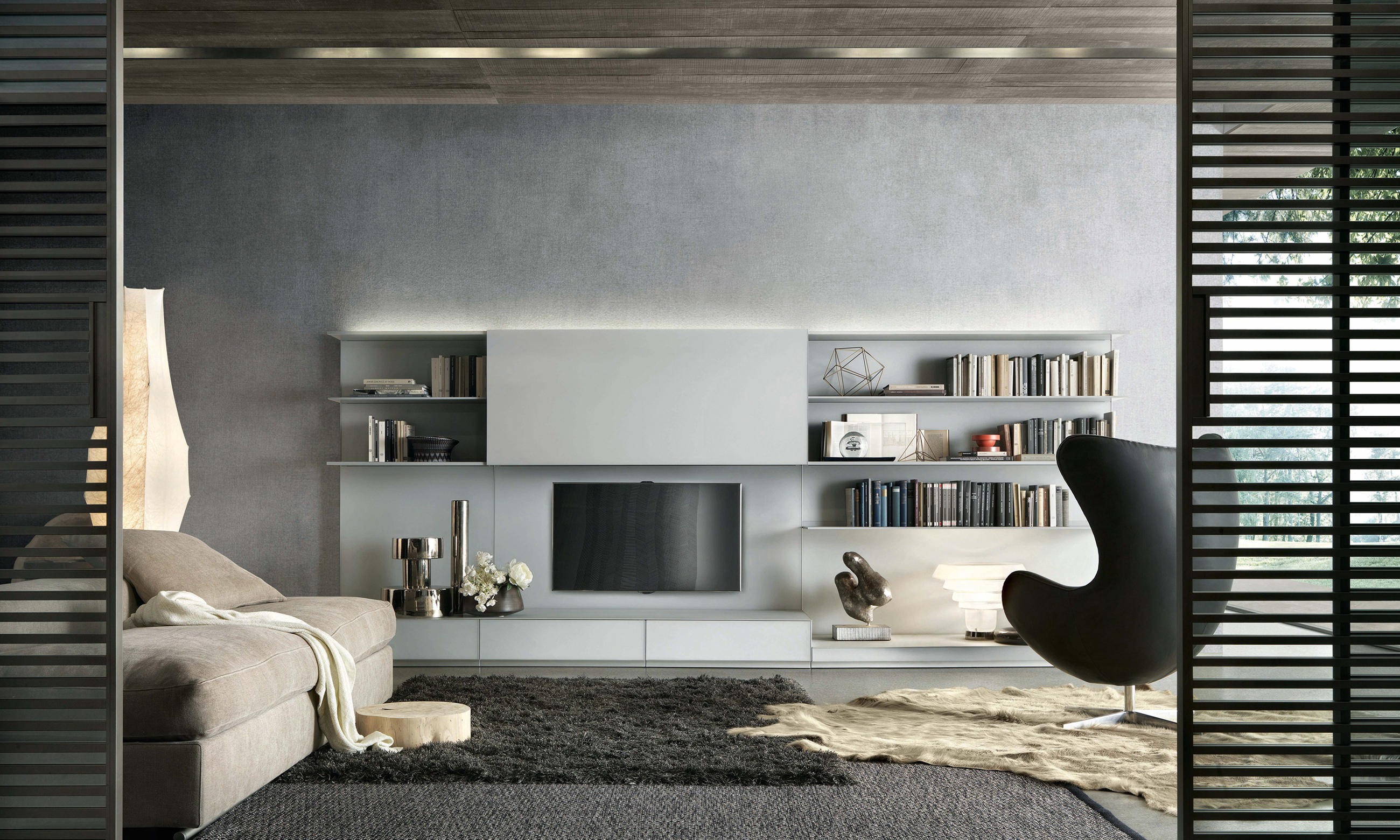 abacus living wall storage systems from rimadesio architonic. Black Bedroom Furniture Sets. Home Design Ideas