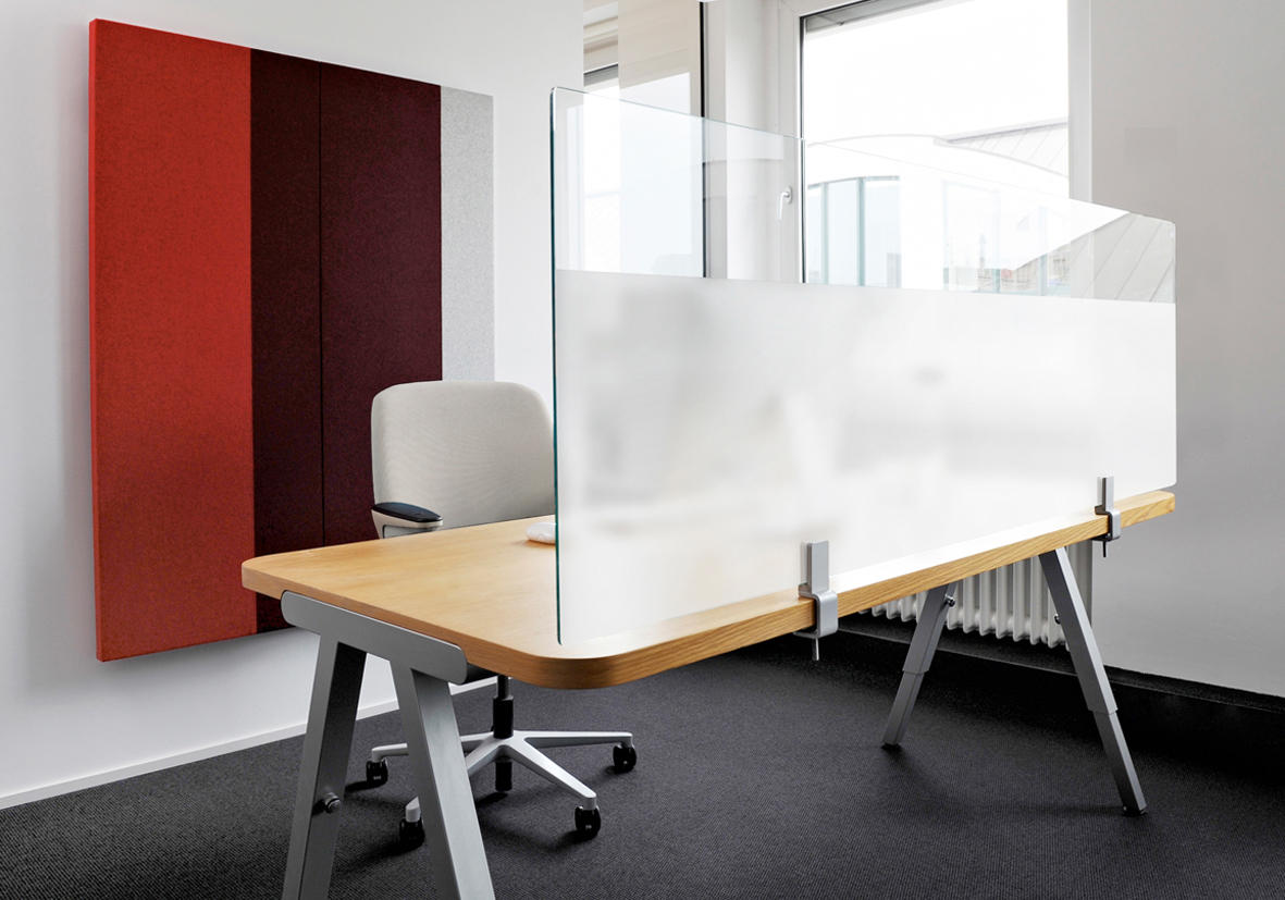 Architects Glass Desktop By Acousticpearls Space Dividing Systems
