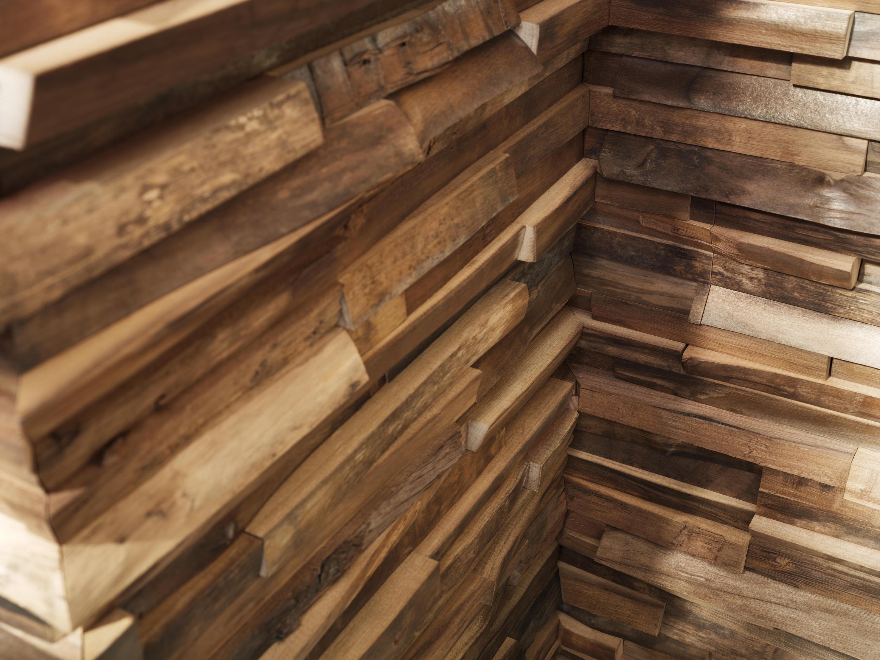 Rivestimento In Legno Parete : Waldkante rivestimento parete u csculturau c pannelli legno team