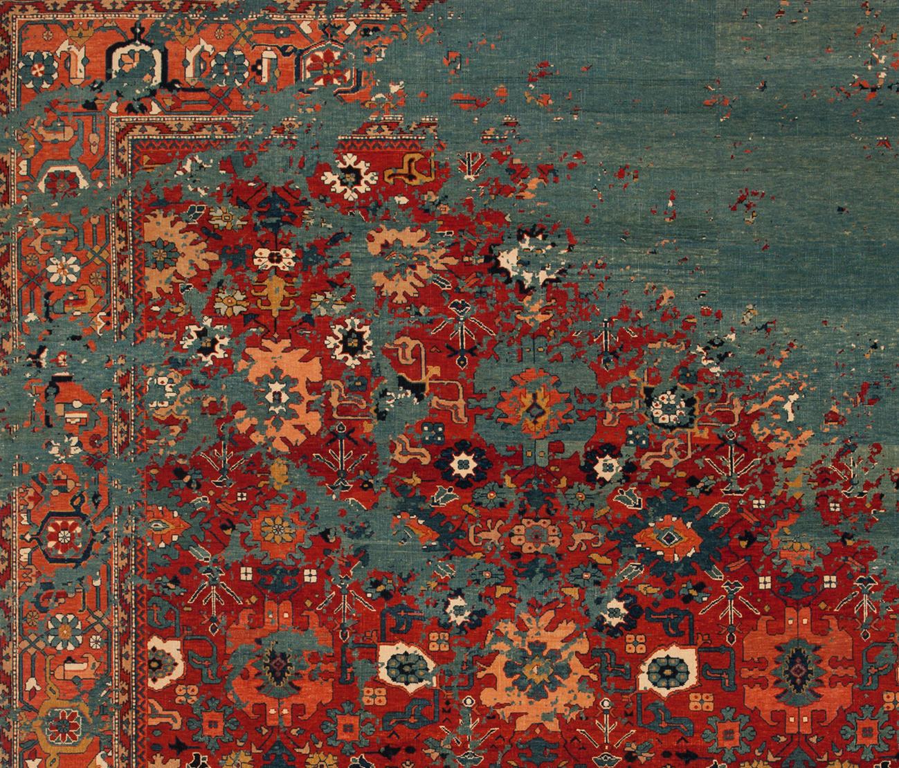 erased heritage bidjar kingscross rocked formatteppiche designerteppiche von jan kath. Black Bedroom Furniture Sets. Home Design Ideas