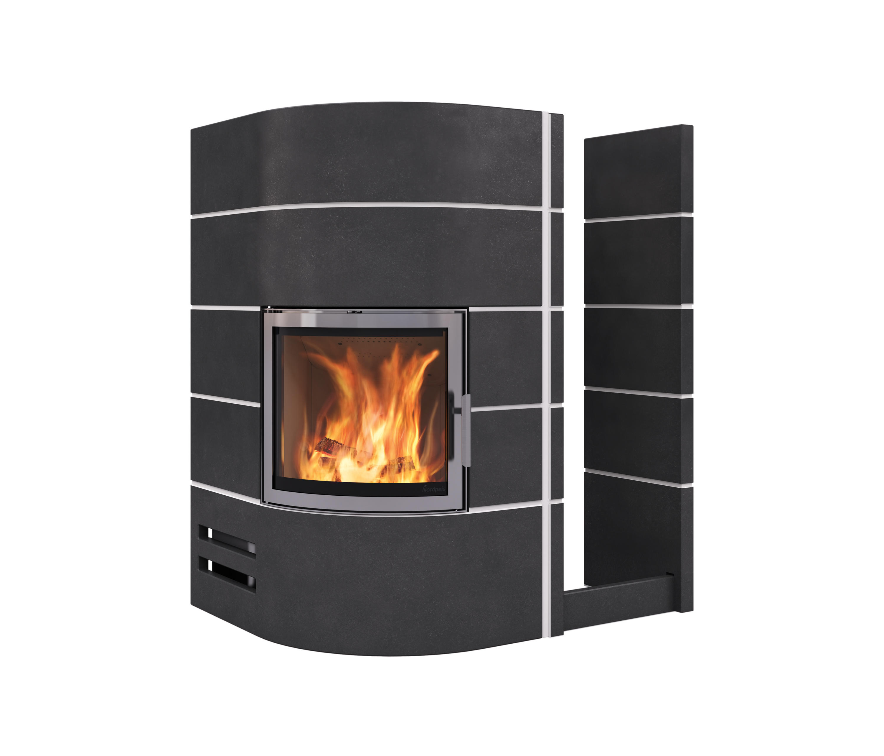 Amsterdam corner waxed concrete wood burning stoves from for Amsterdam products