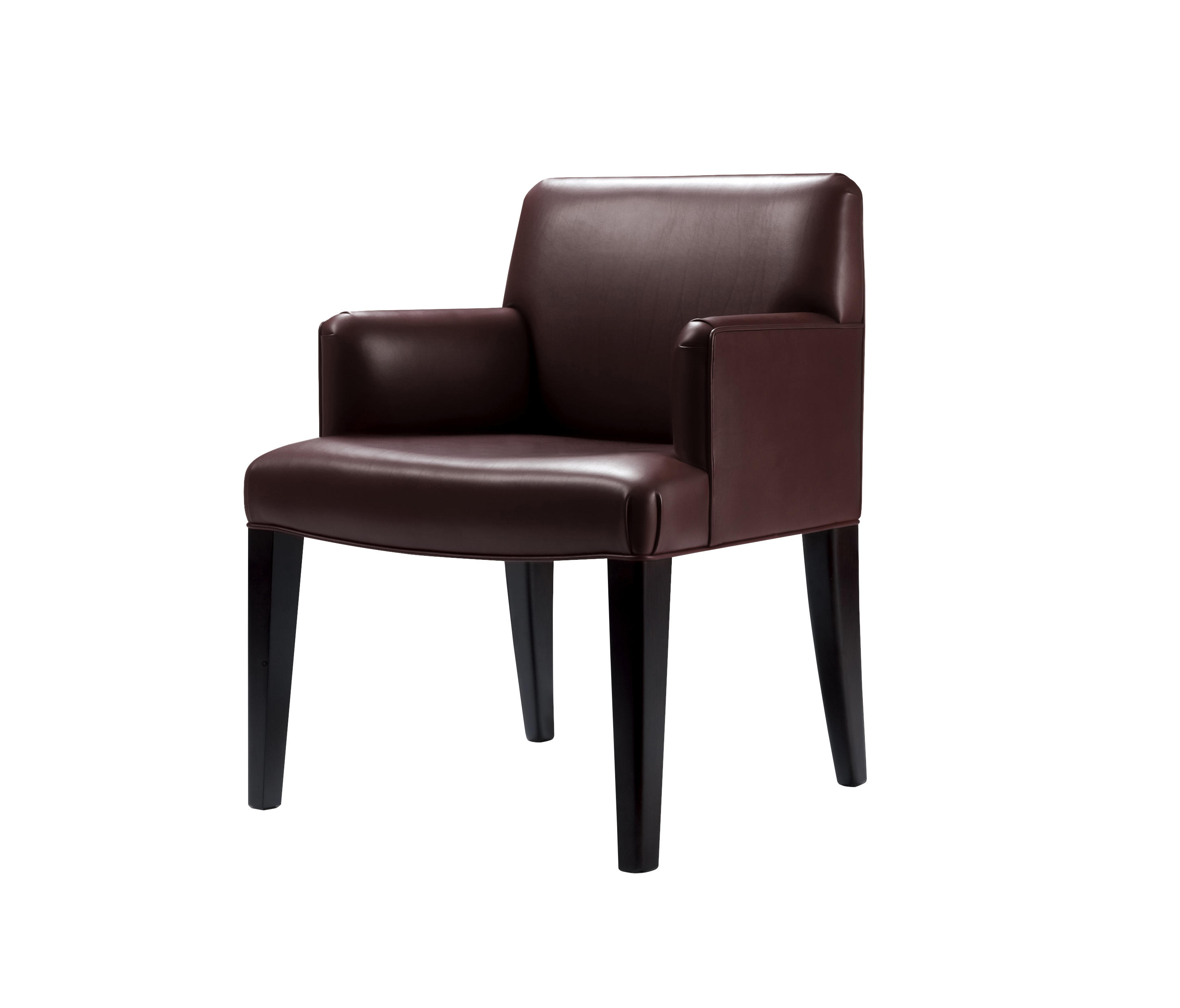 Isotta low padded backrest large chair with arms | Architonic
