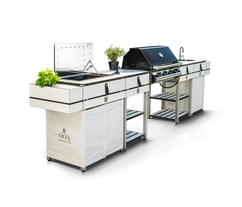 Modular Bbq Outdoor Kitchen: EDITION WHITE BBQ - Grills Von OCQ