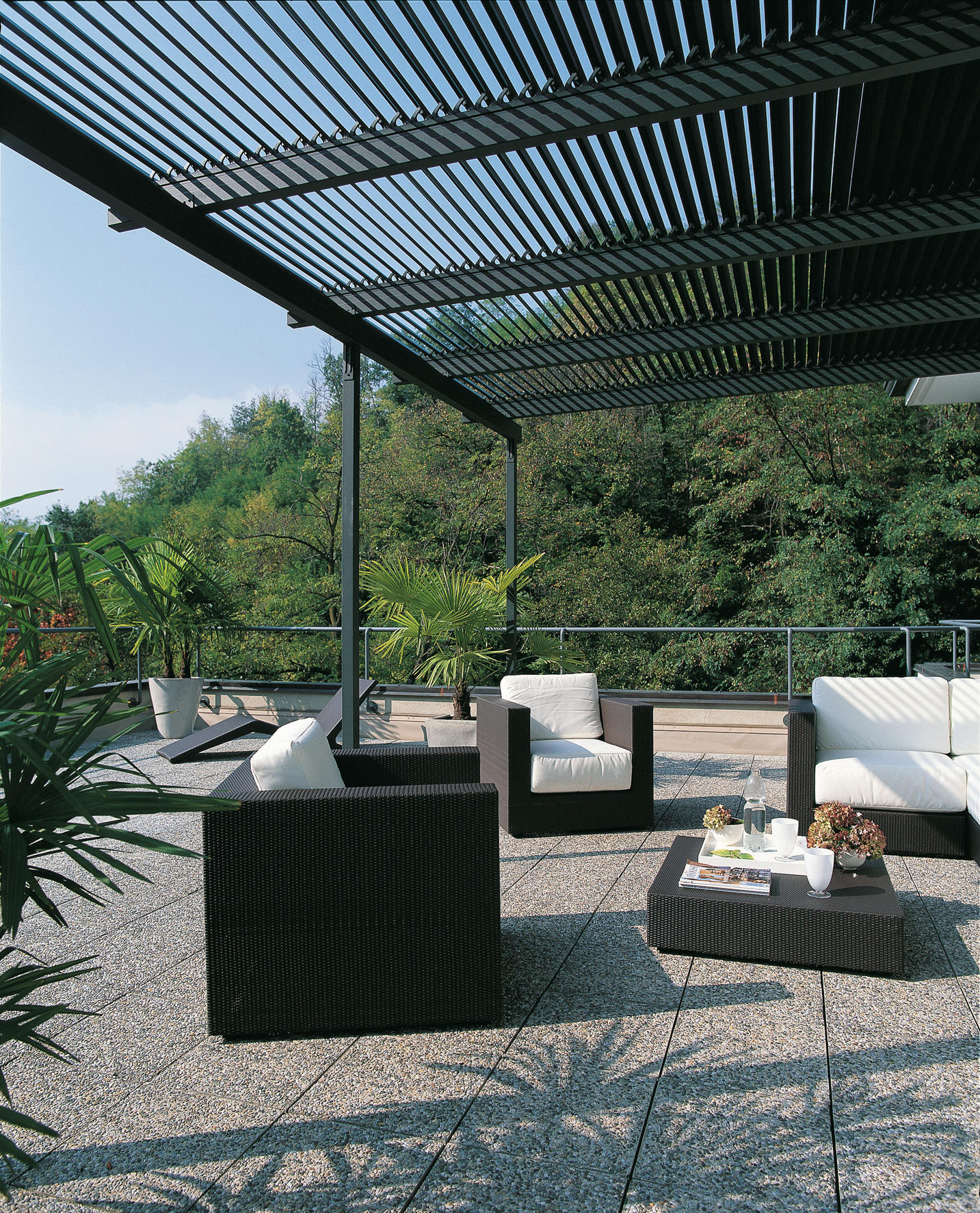 meridienne pergola pergolas from unopi architonic. Black Bedroom Furniture Sets. Home Design Ideas