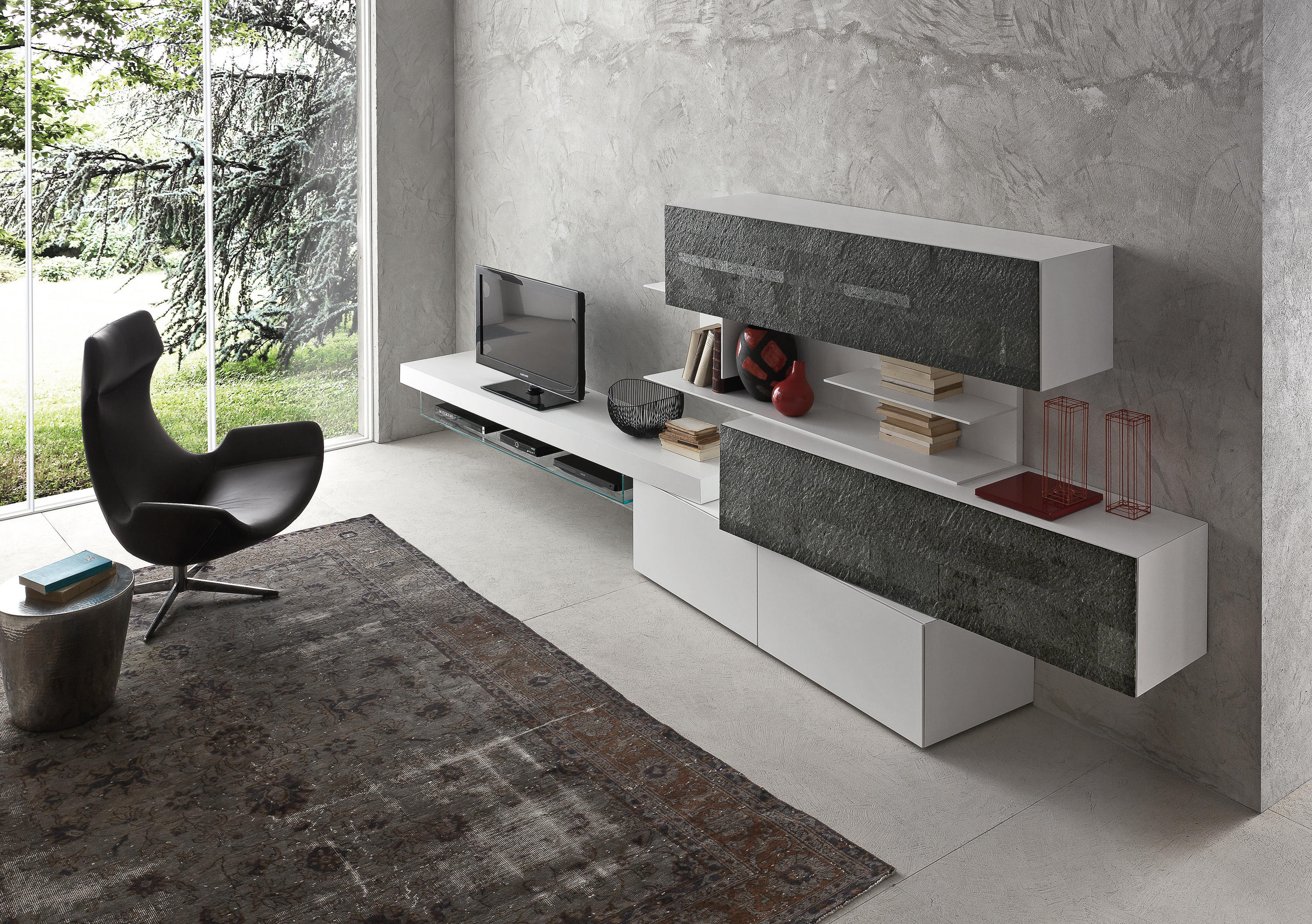 INCLINART PIETRA - Wall storage systems from Presotto | Architonic