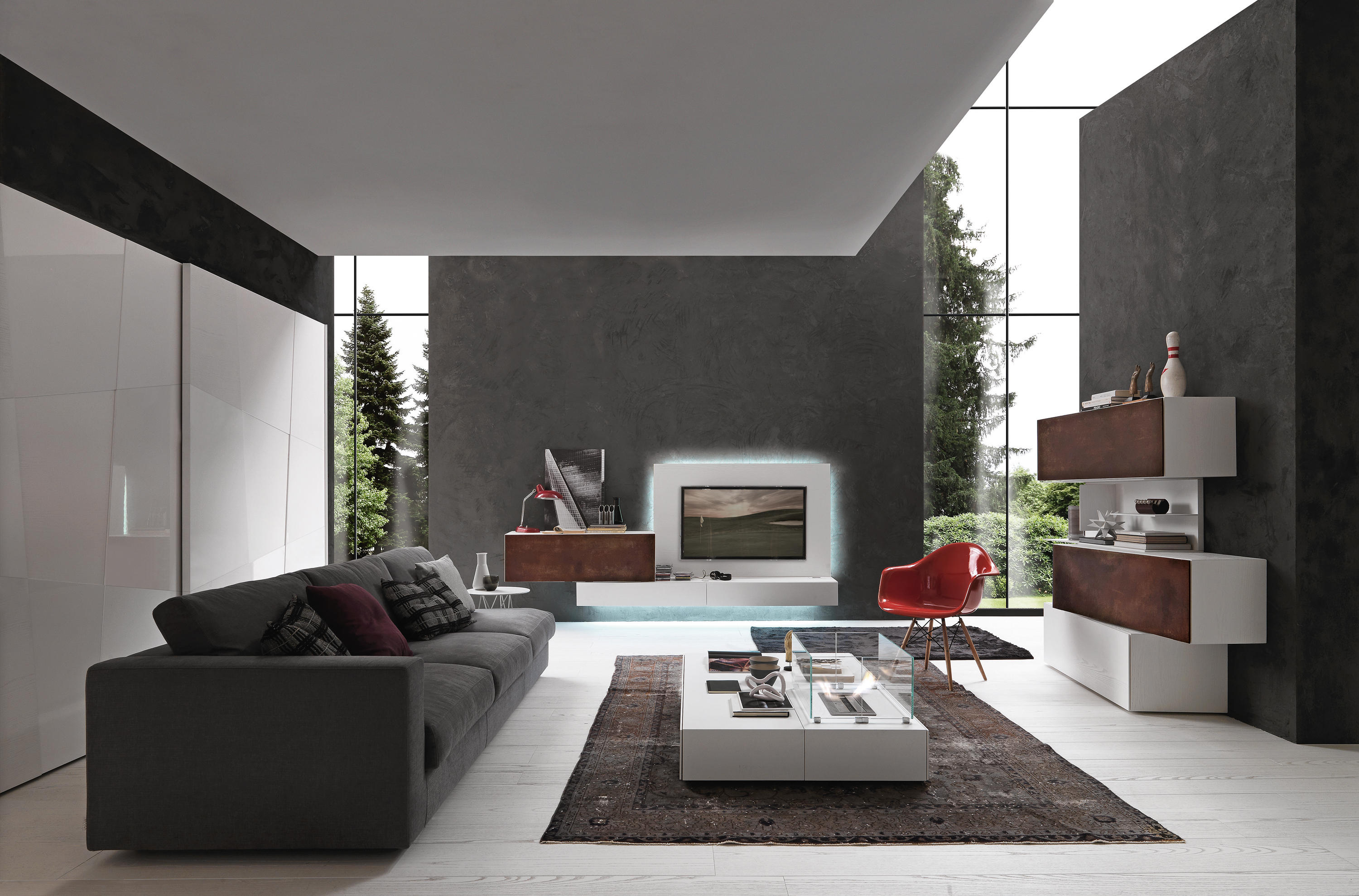 INCLINART COR-TEN - Multimedia sideboards from Presotto | Architonic