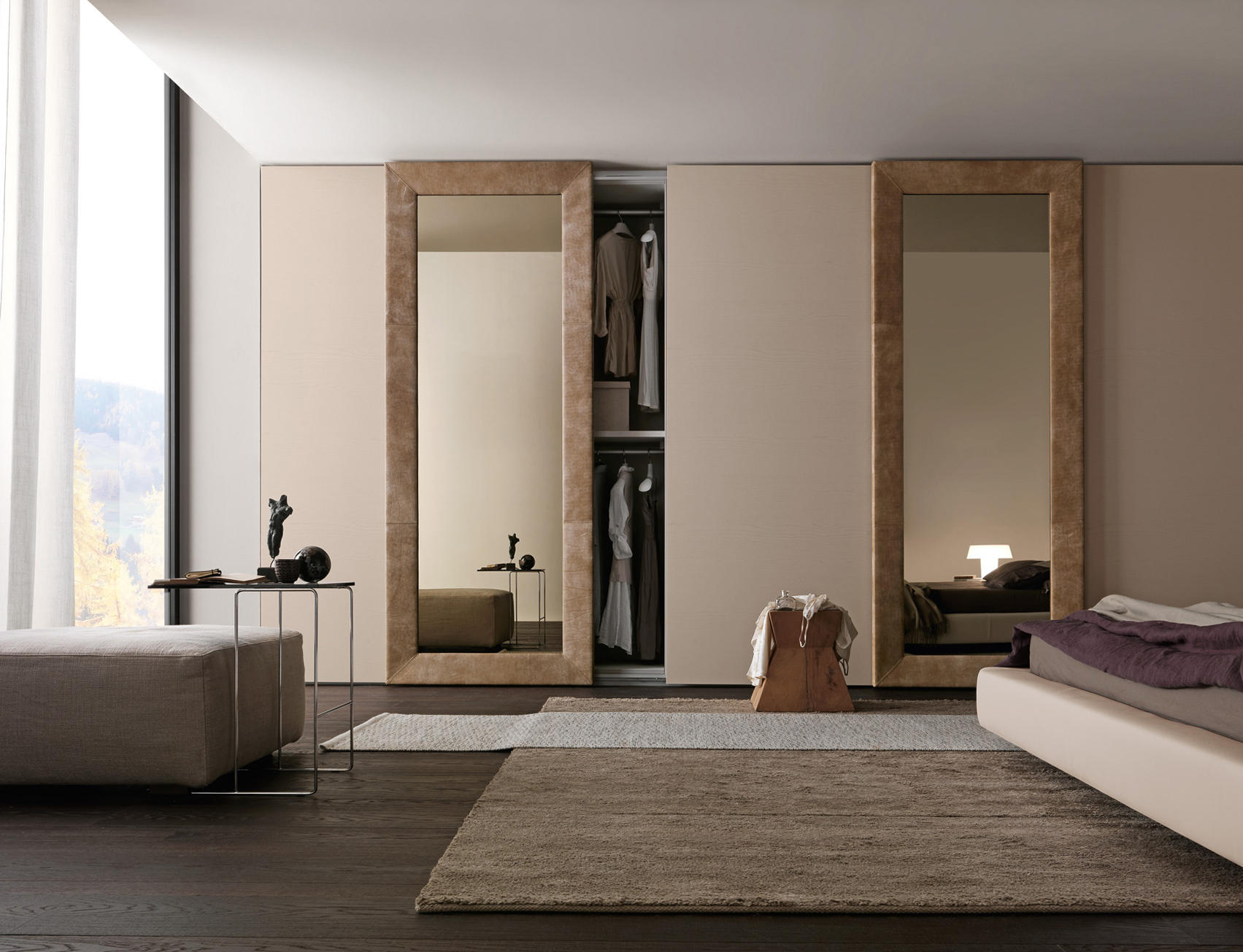 Mirror 1 wardrobe cabinets from presotto architonic - Bedroom cabinets with sliding doors ...