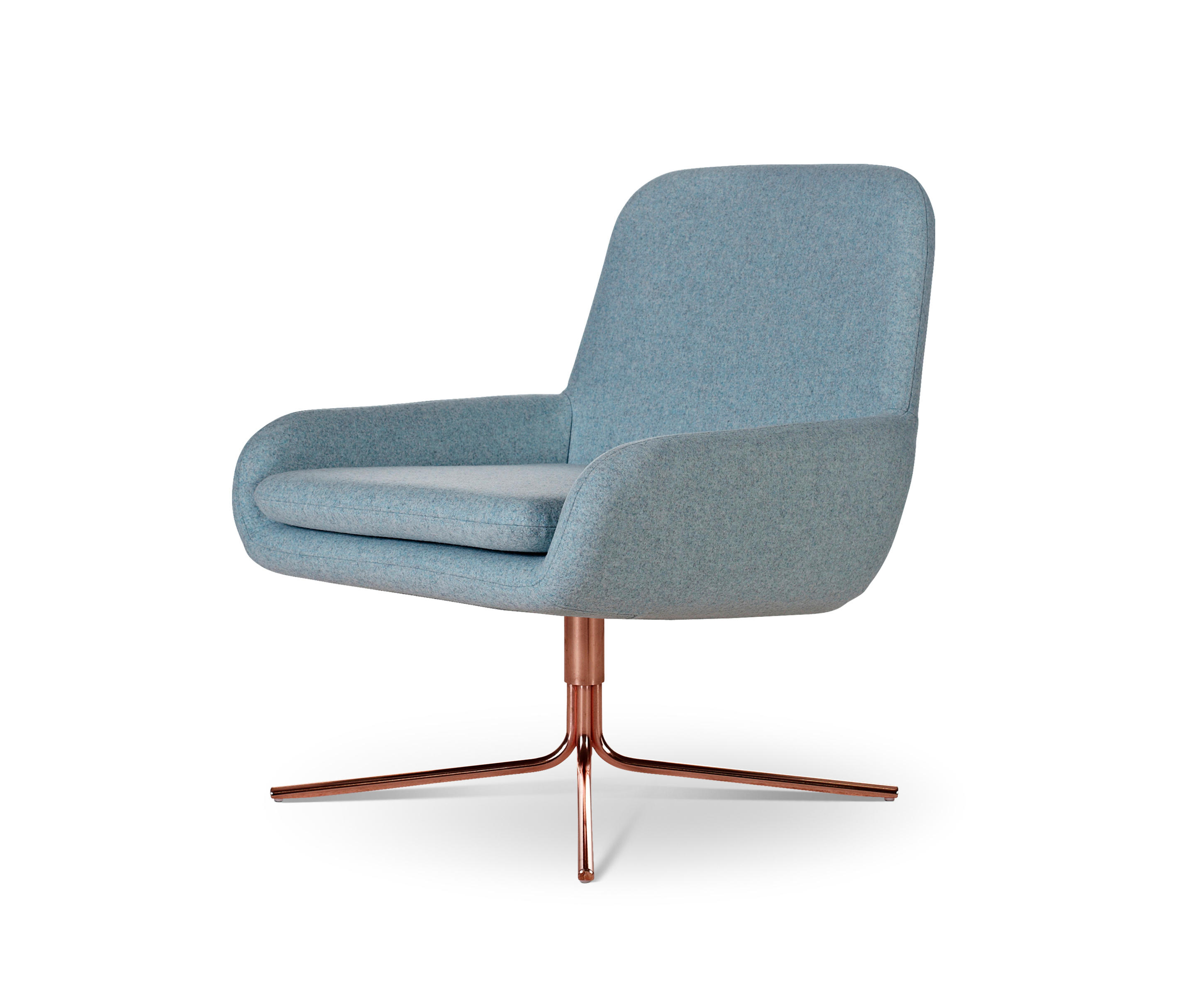 COCO SWIVEL COPPER Lounge chairs from Softline A S