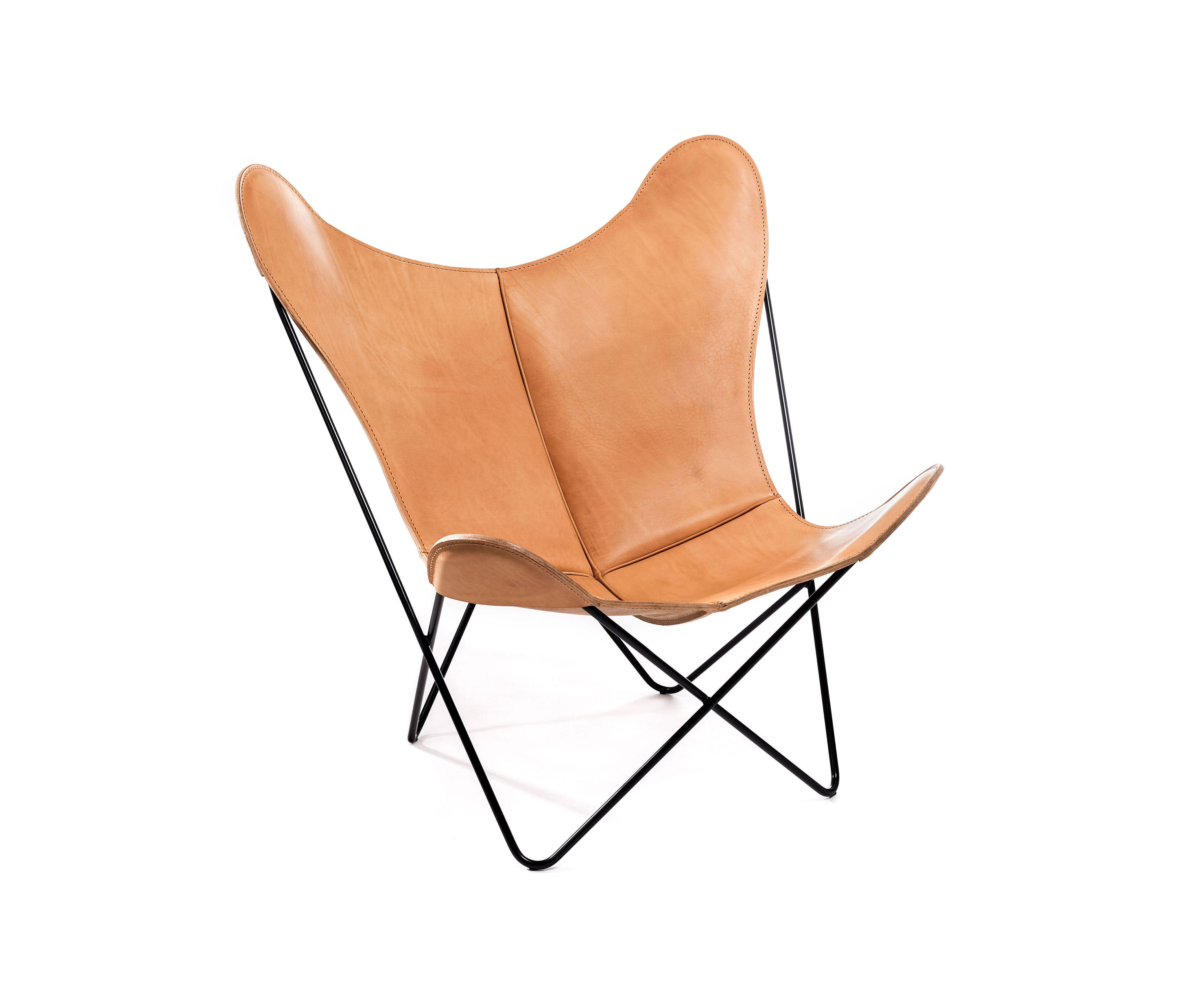hardoy butterfly chair sattel leder natur lounge chairs from manufakturplus architonic. Black Bedroom Furniture Sets. Home Design Ideas