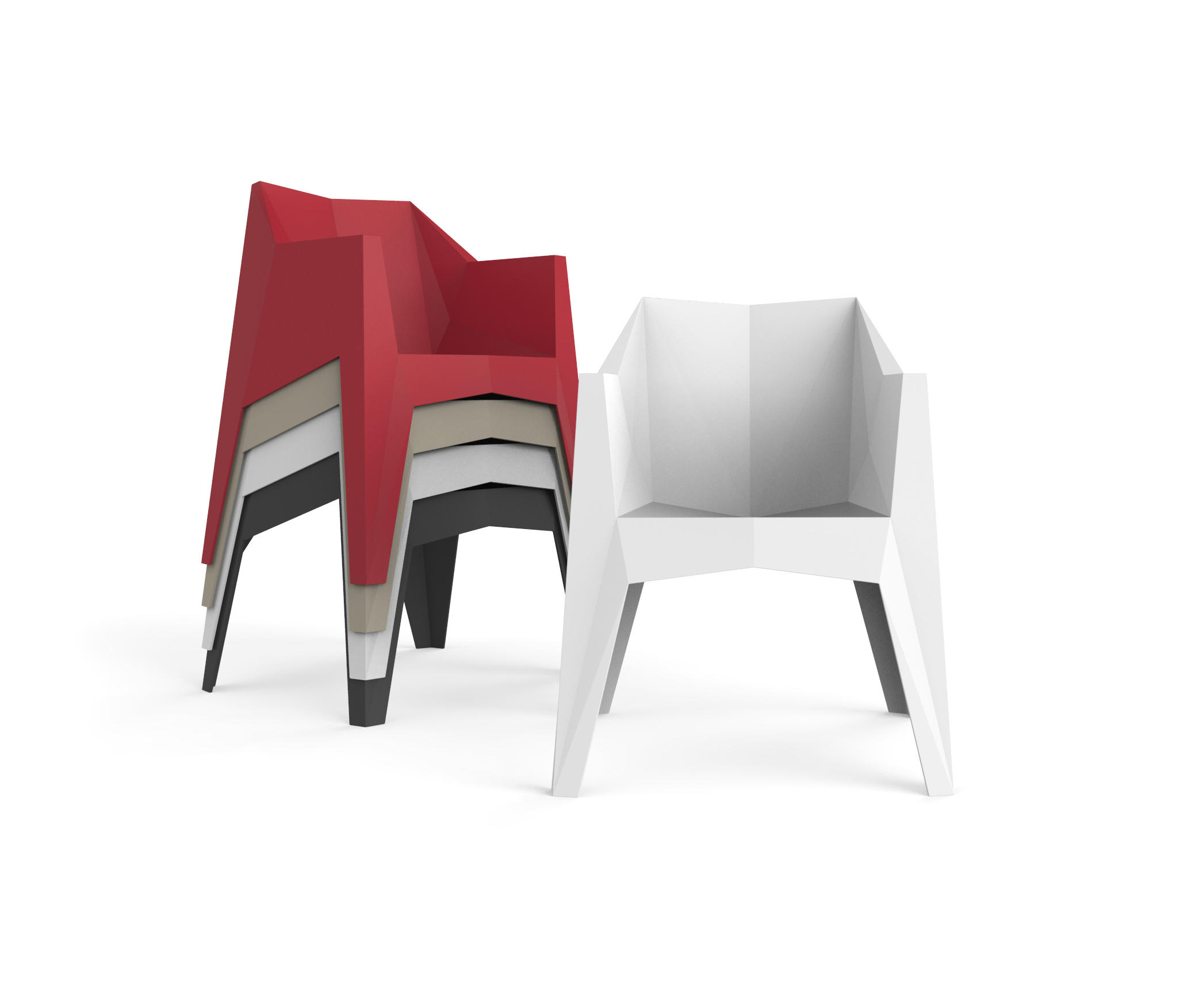 VOXEL STREET CHAIR Restaurant chairs from Vondom