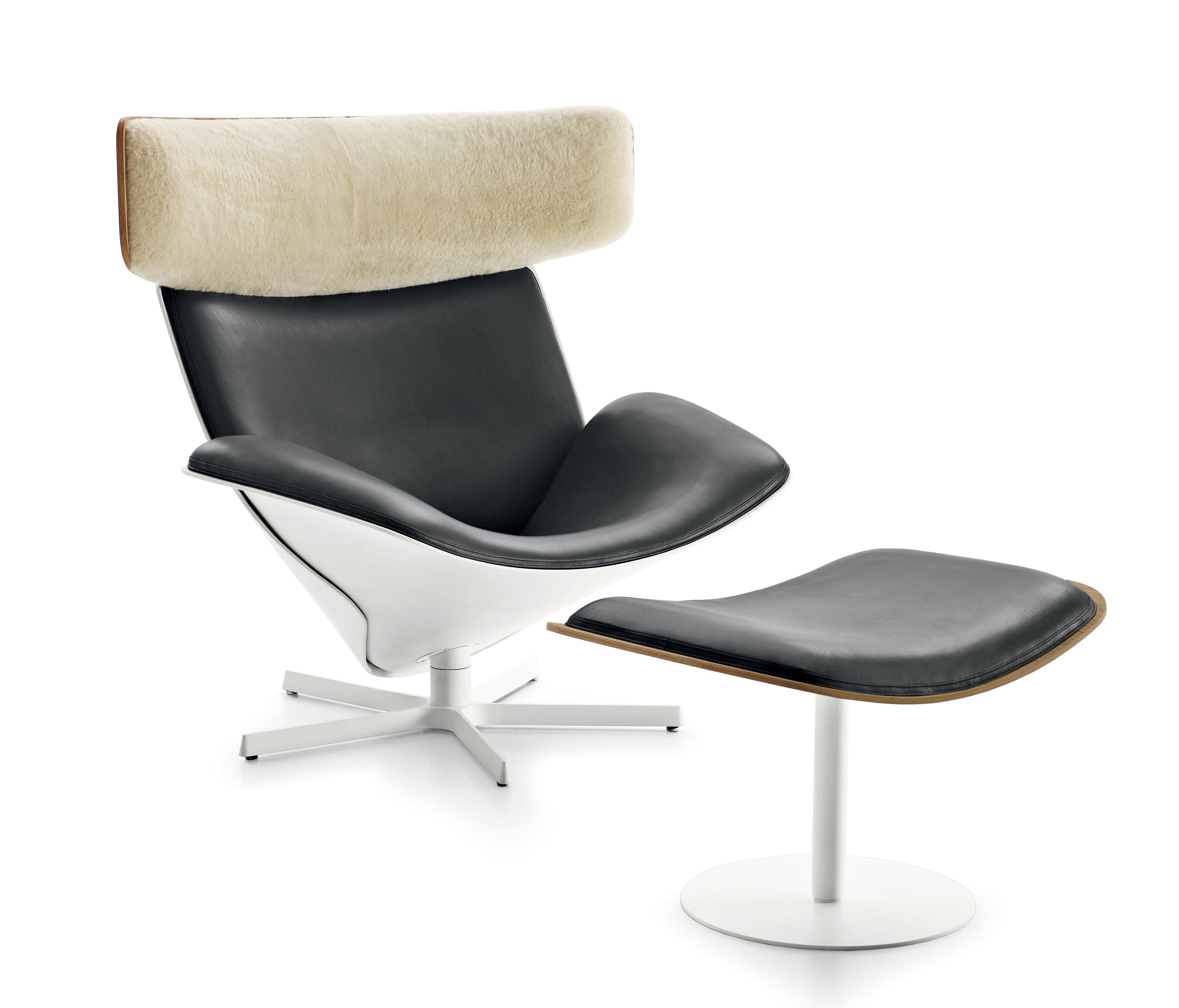 Almora With Footstool Lounge Chairs From B B Italia